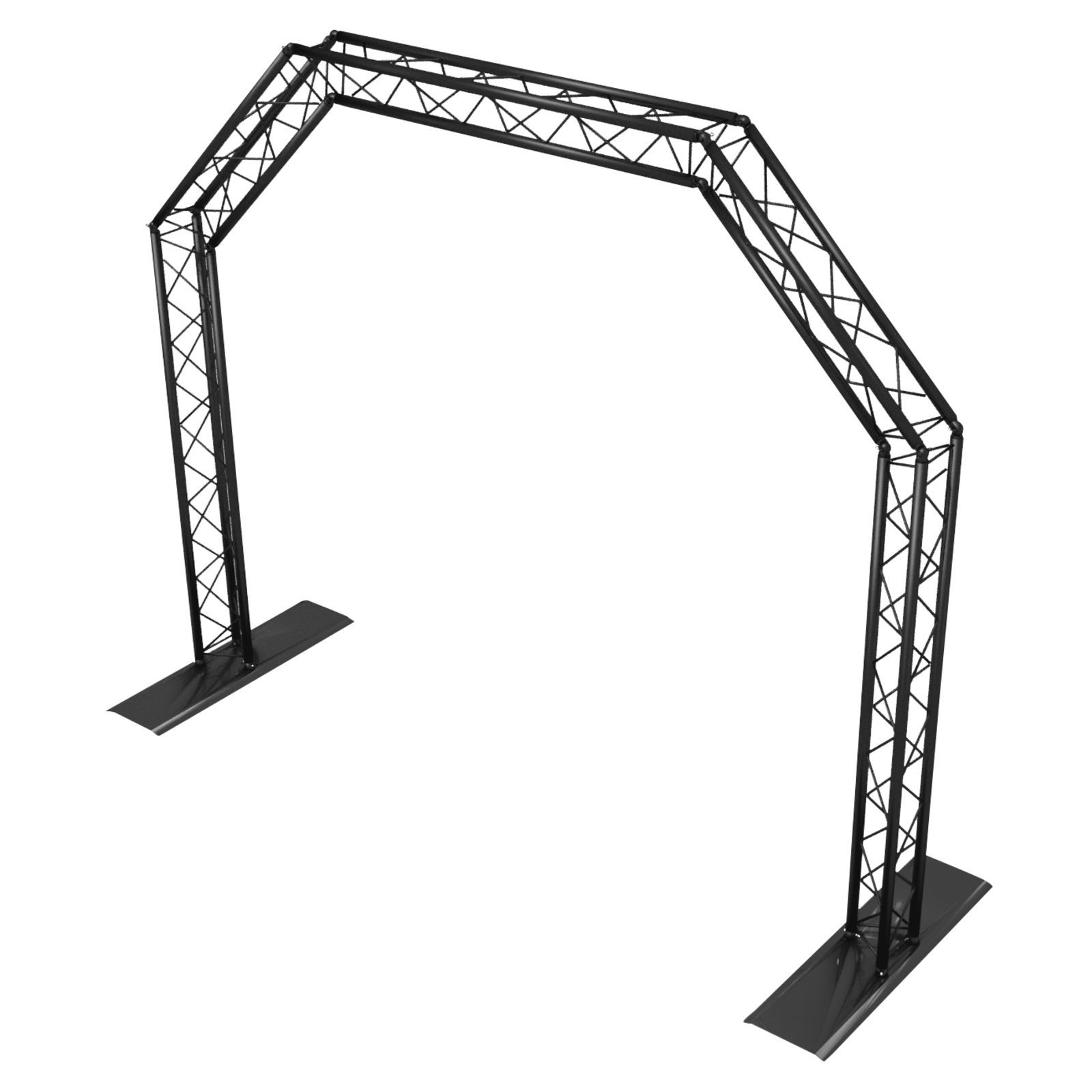 lightmaXX ALU-STAGE MOBILE TRUSS GATE Black, 2,4mx2,9m, Ø35mm, TÜV Produktbillede