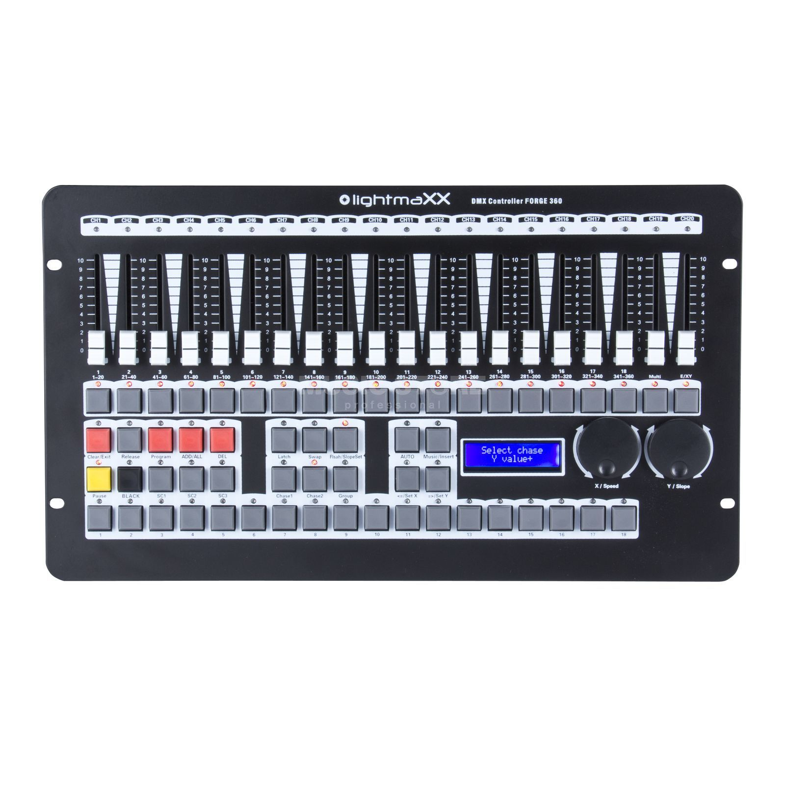 lightmaXX DMX Controller FORGE 360 540 Scenes,36 Chaser,18 Fix. Product Image