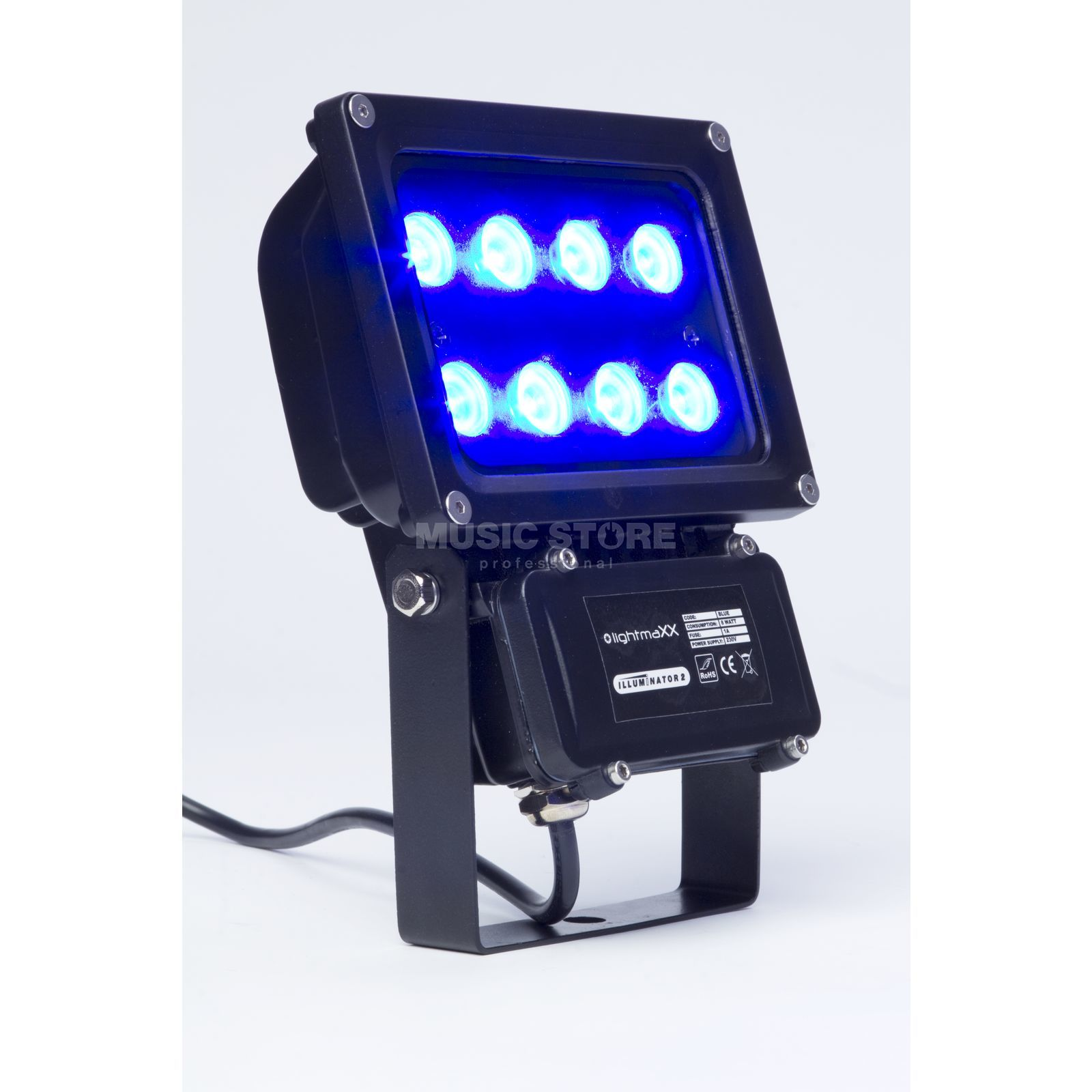 lightmaXX GARDEN LIGHT BLUE 8x1W Illuminator II IP65 Produktbillede