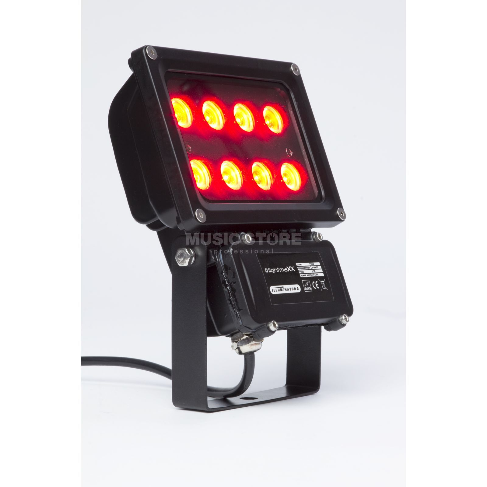 lightmaXX GARDEN LIGHT RED 8x1W Illuminator II IP65 Product Image