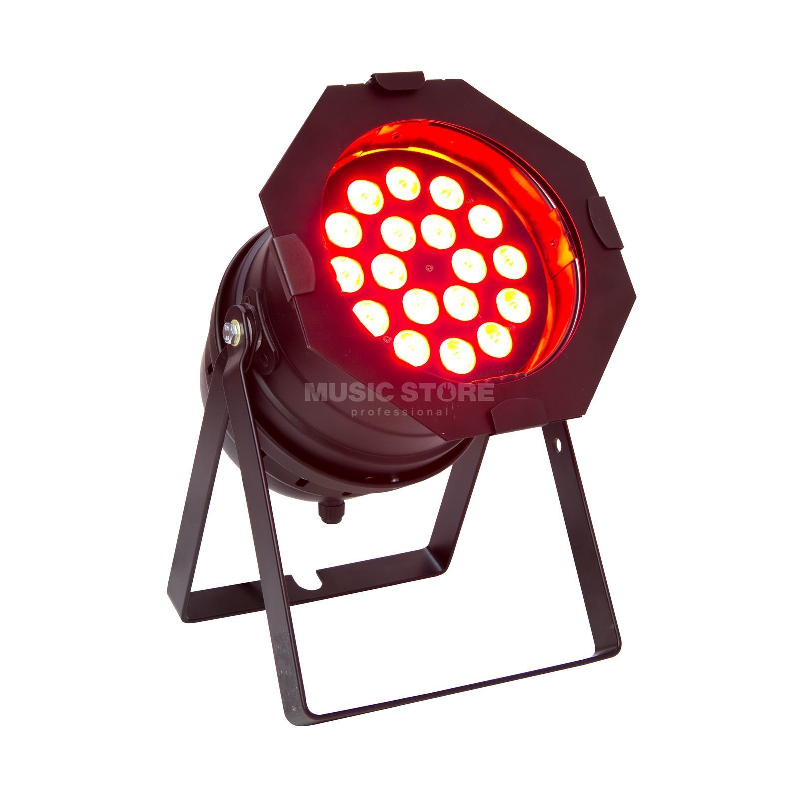lightmaXX LED Mega PAR 64 black 18x 8 Watt Quad LEDs Produktbillede