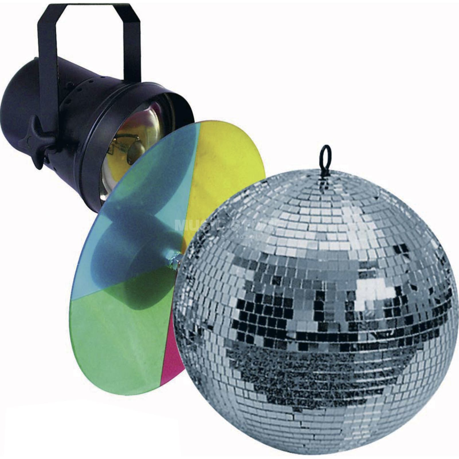 lightmaXX Mirror Ball Set 1 / 20cm Motor Pinspot, Colour Changers Product Image