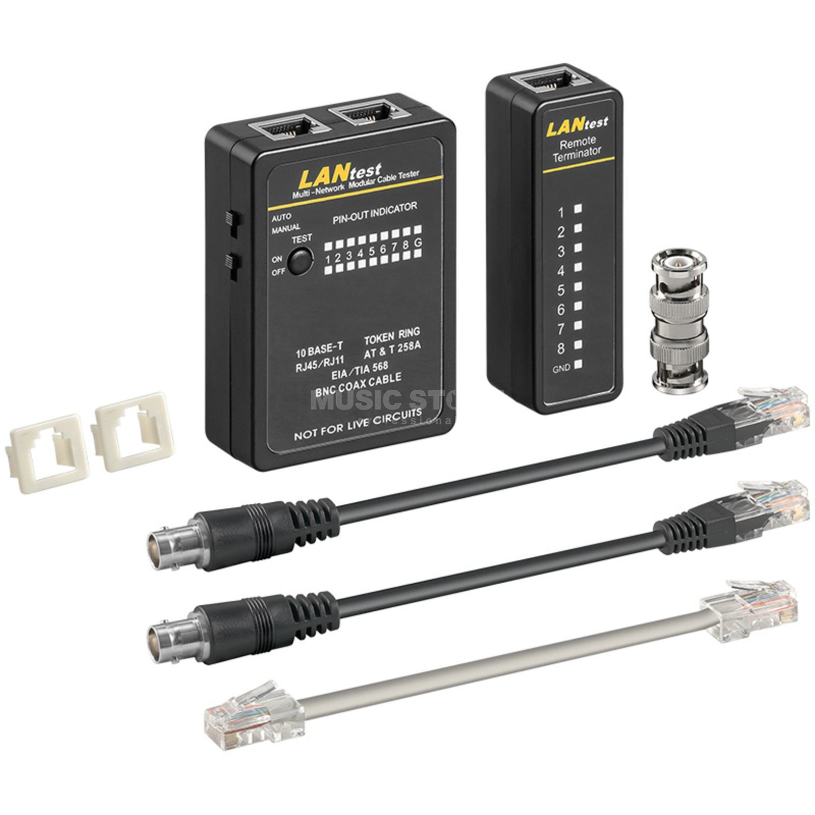 lightmaXX Network Cable Tester Set for CAT5 Produktbillede