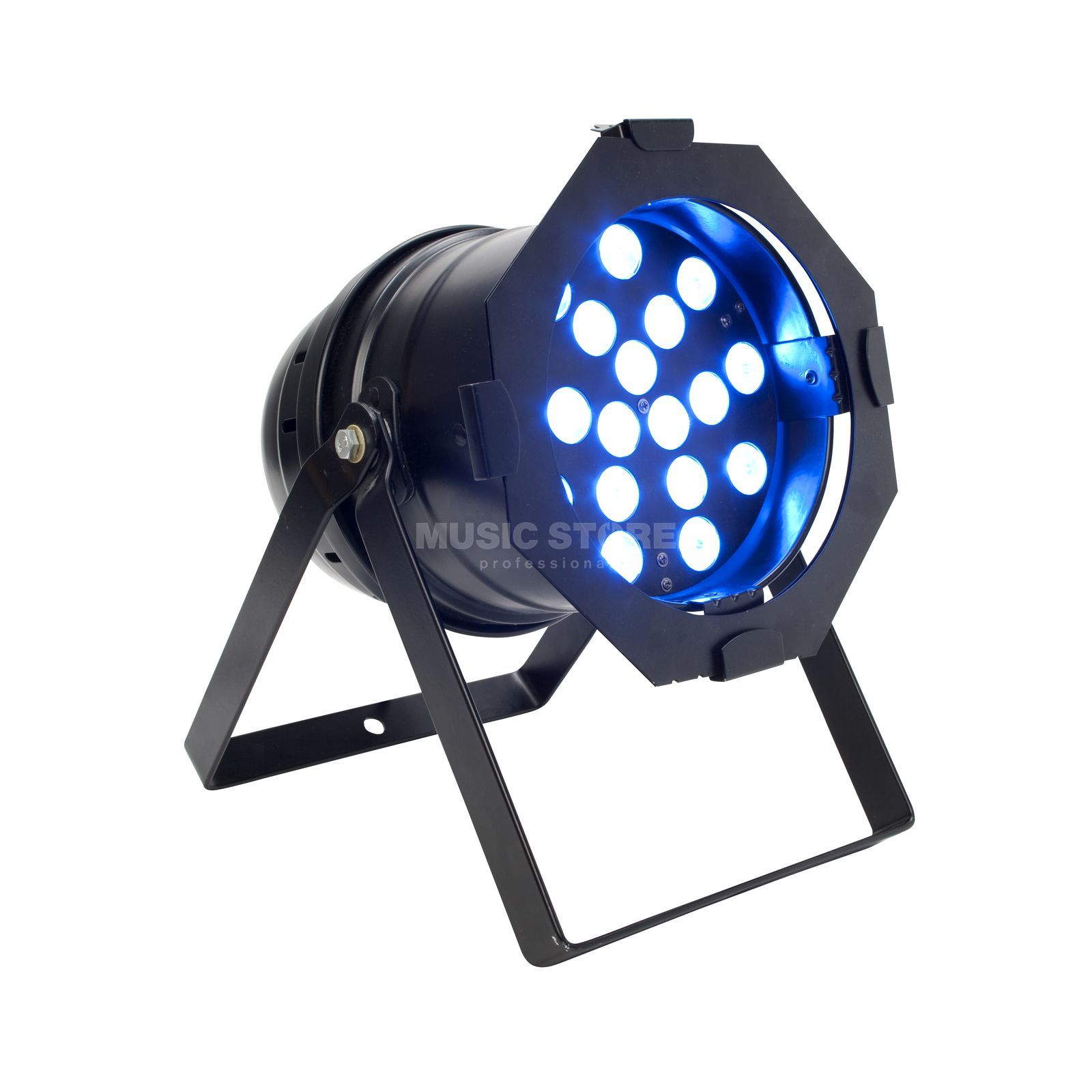 lightmaXX Platinum LED PAR 64 Tri-LED BK 18 x 3 Watt, Black Produktbillede