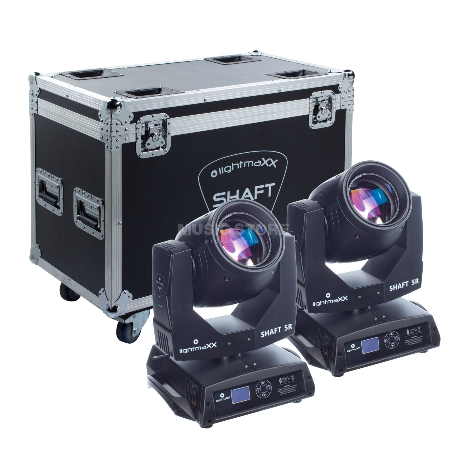 lightmaXX SHAFT 5R - Touring Pack Beam Moving Head im 2er Case Produktbild