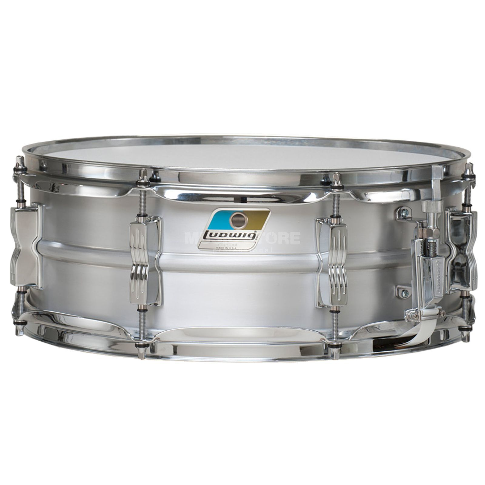 "Ludwig Acrolite Snare Classic LM404C, 14""x5"", Brushed Aluminium Produktbillede"
