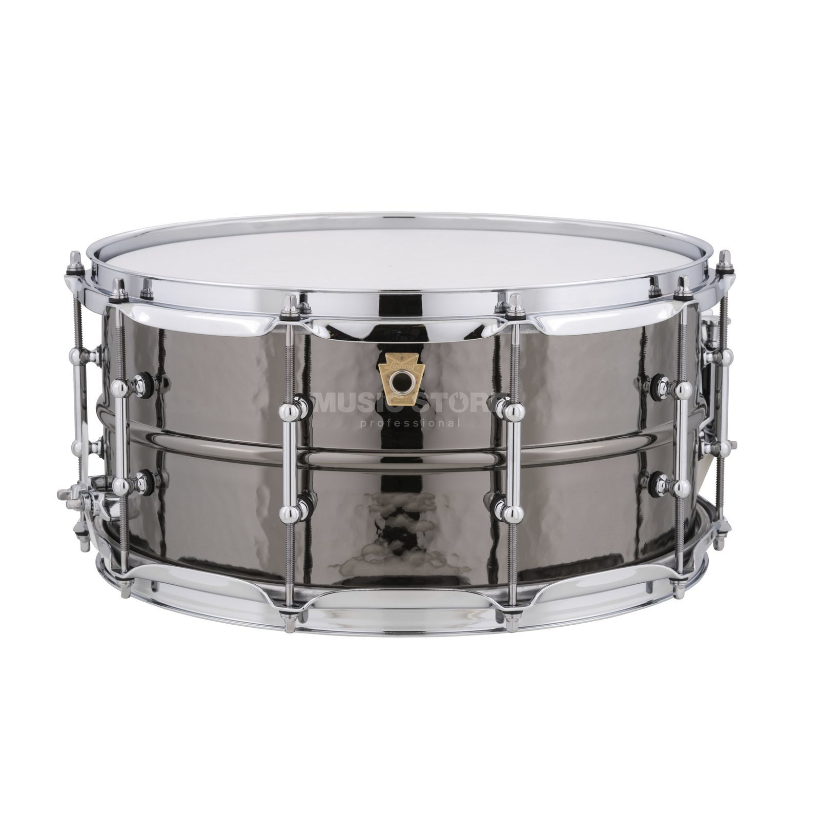"Ludwig Black Beauty Snare LB417KT, 14""x6.5"", Hammered Brass Produktbillede"