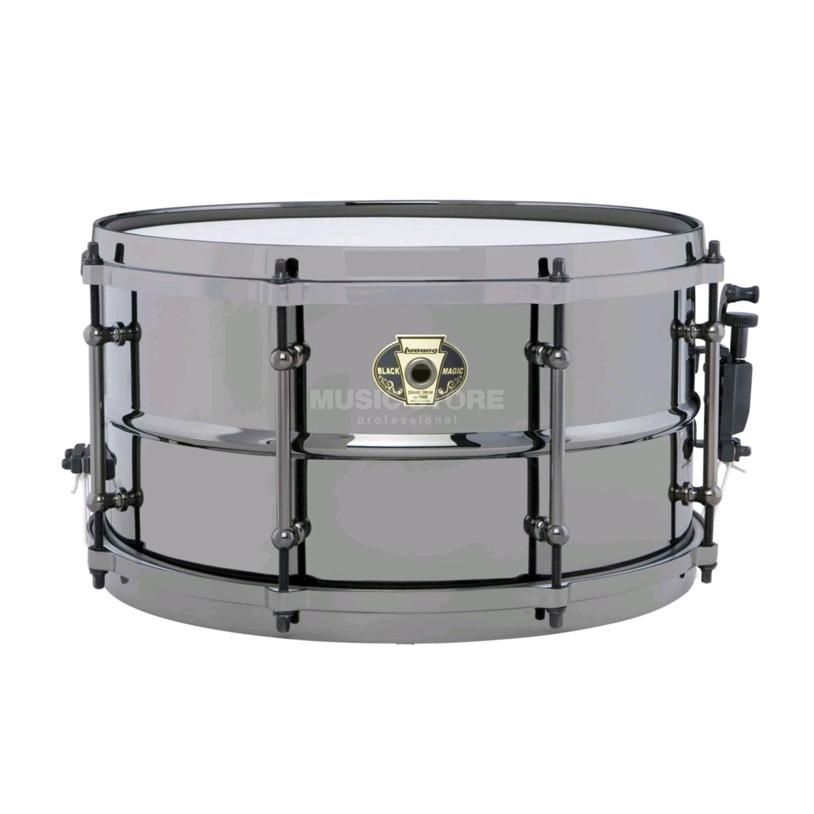 "Ludwig Black Magic Snare LW0713, 13""x7"", Produktbillede"