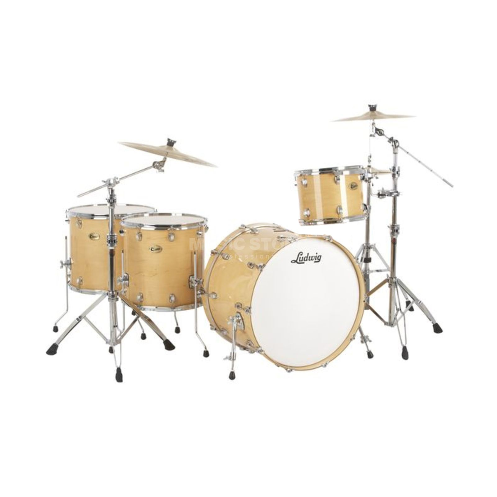 "Ludwig Centennial ""Dragster"" ShellSet Natural Maple #NM Produktbillede"