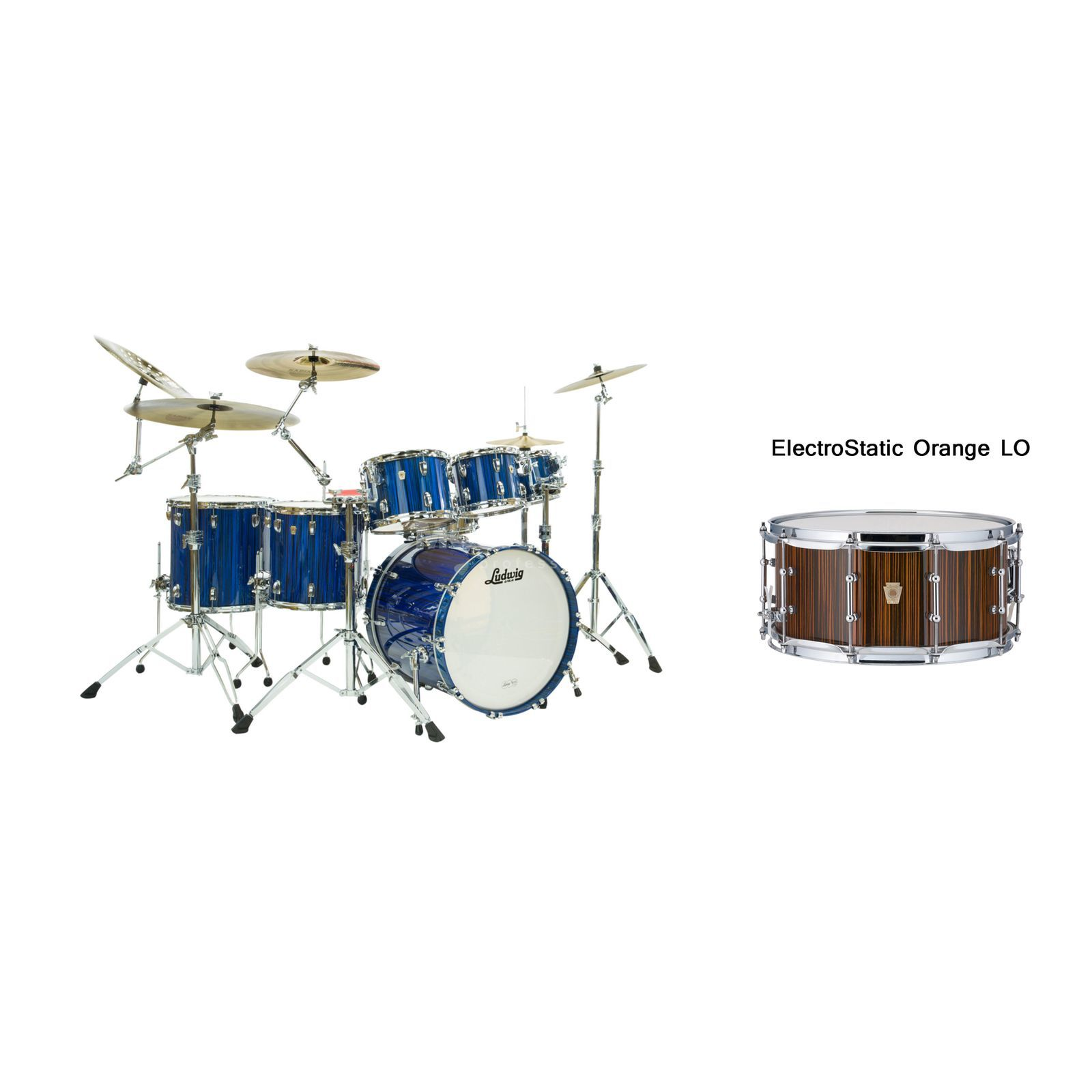 Ludwig Classic Maple Electrostatic ShellSet, Orange Produktbillede