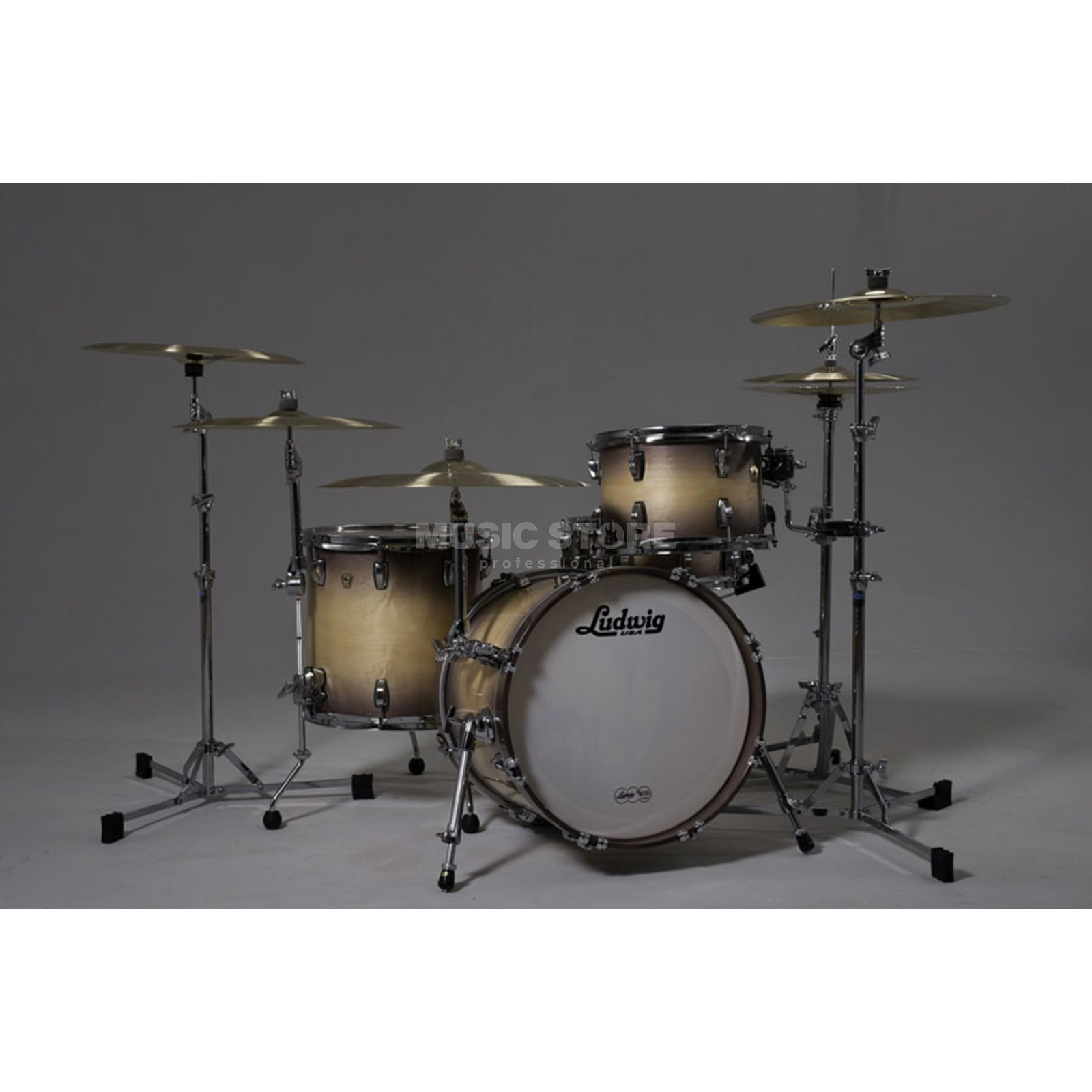 Ludwig Classic Maple ShellSet, Burnt Natural Produktbillede