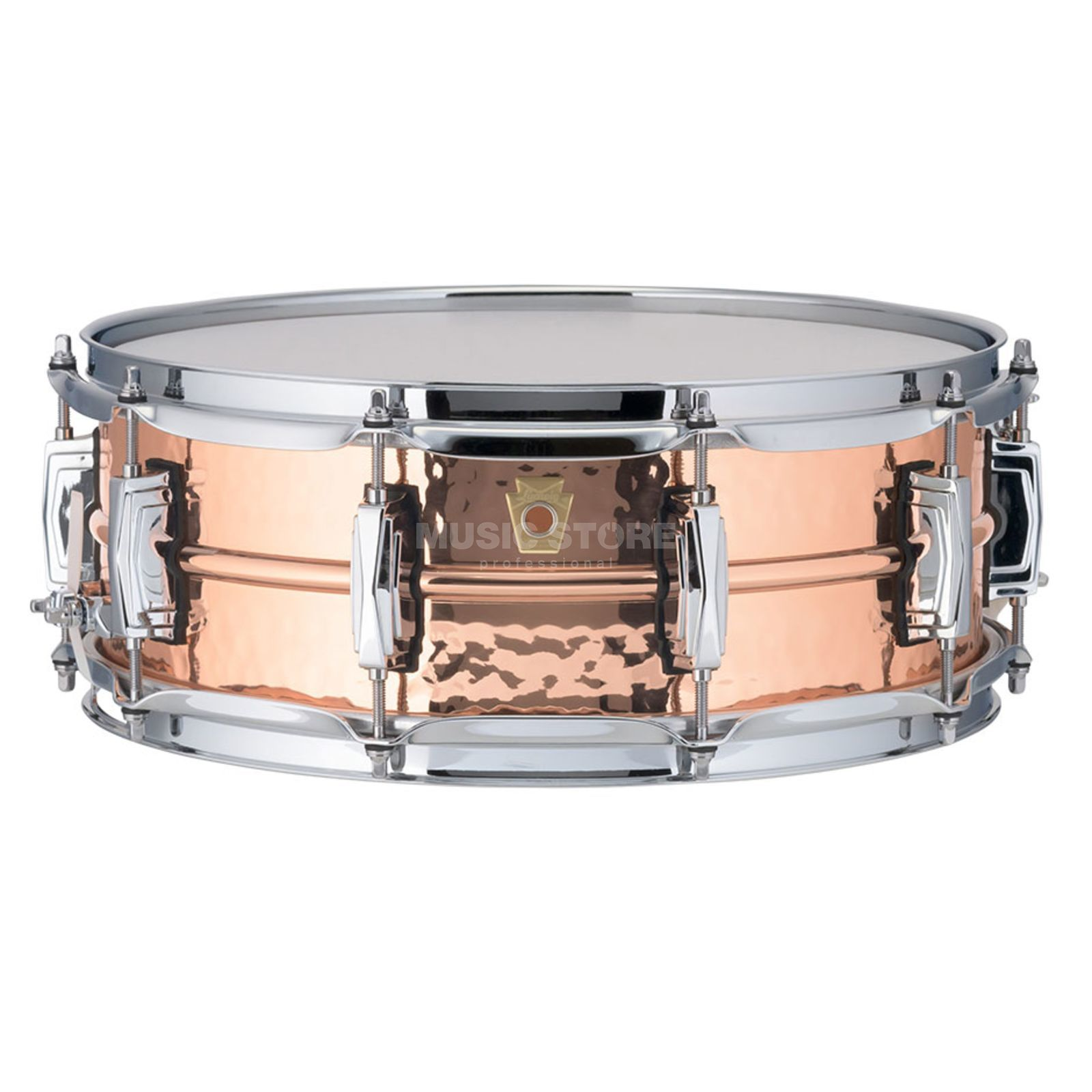 "Ludwig Copper Phonic Snare LC660K, 14""x5"", Hammered Copper Product Image"