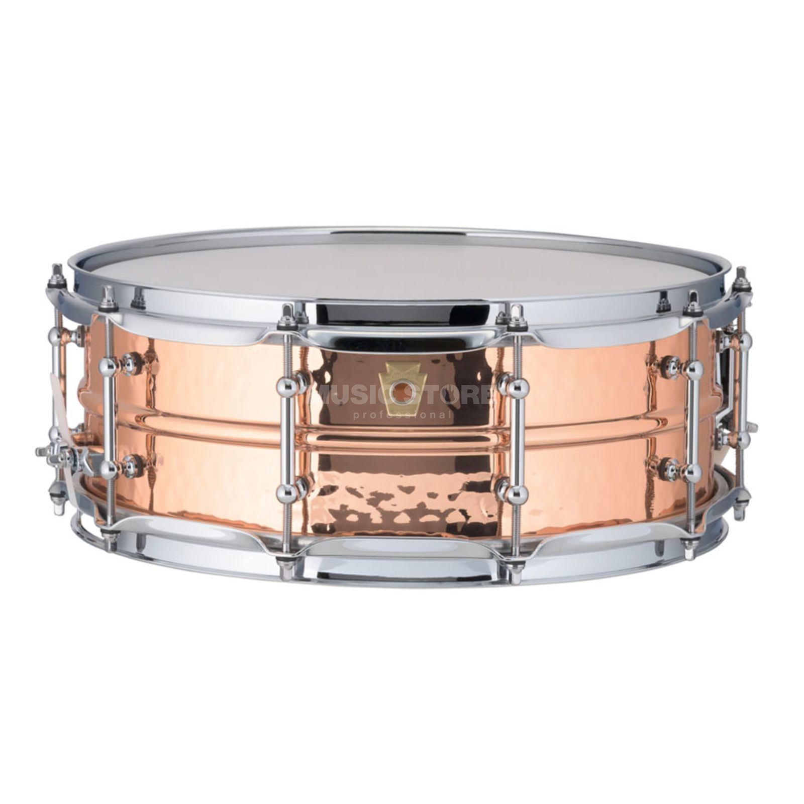 "Ludwig Copper Phonic Snare LC660KT, 14""x5"", Hammered Copper Product Image"