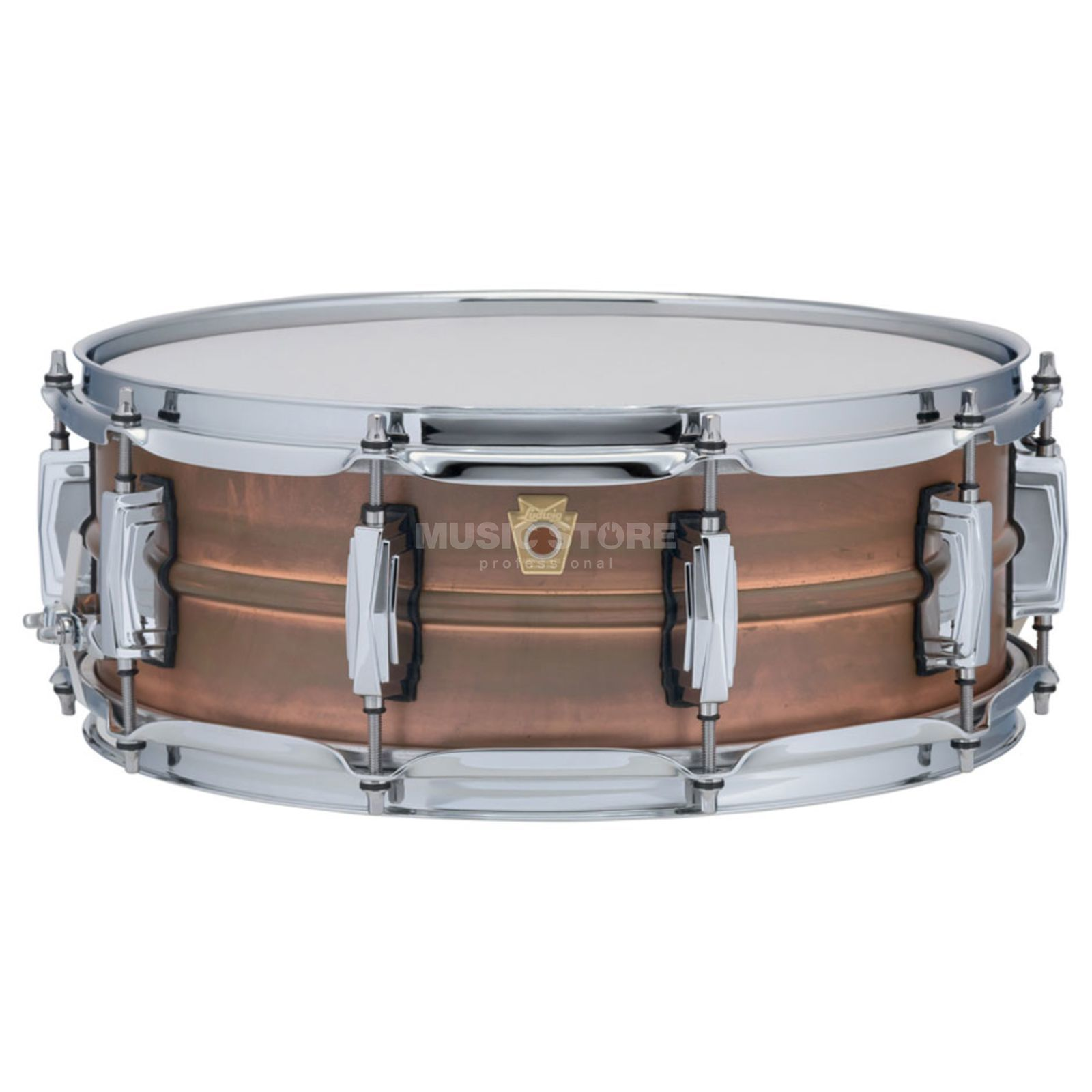 "Ludwig Copper Phonic Snare LC661, 14""x5"", Raw Patina Copper Produktbillede"