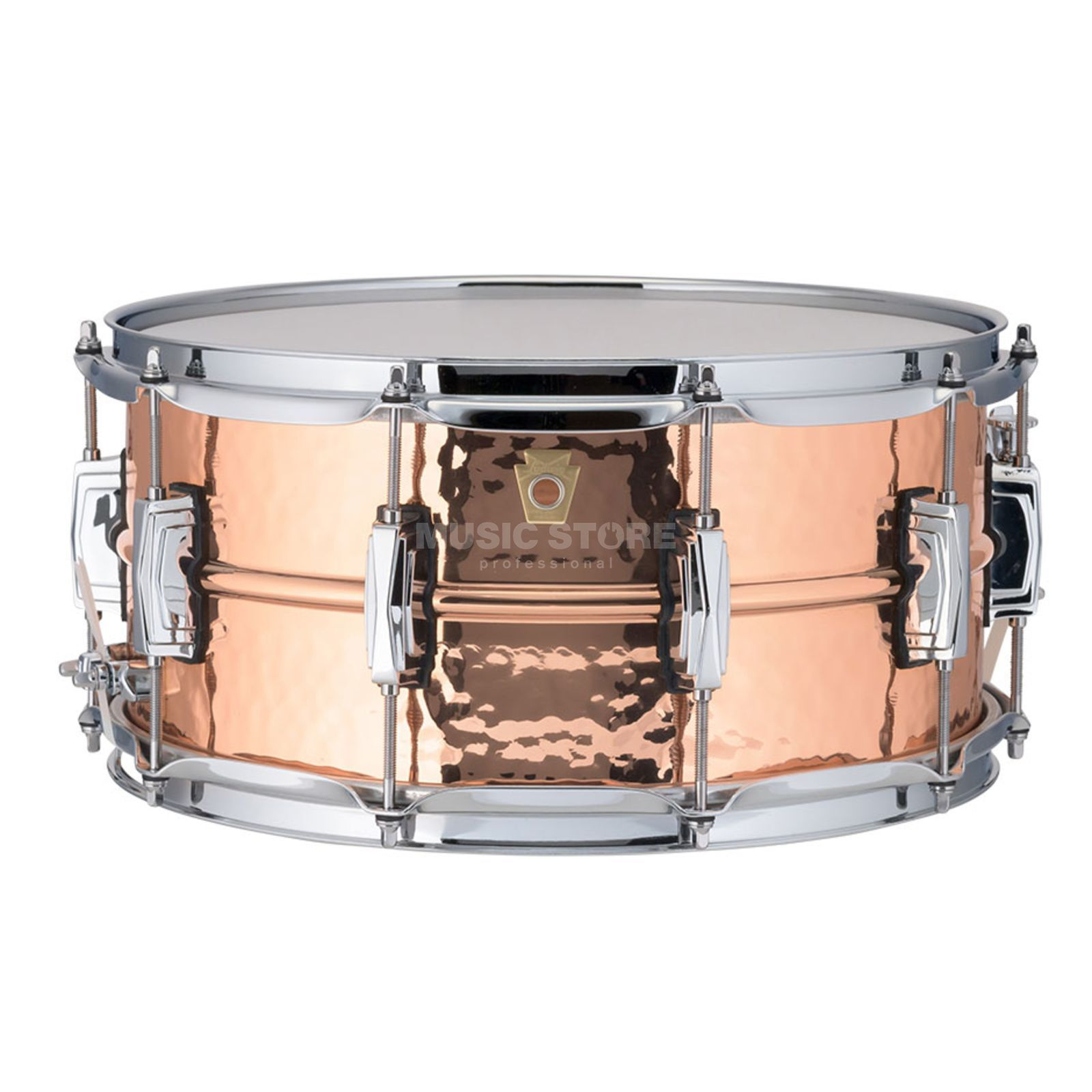 "Ludwig Copper Phonic Snare LC662K, 14""x6,5"", Hammered Copper Produktbillede"