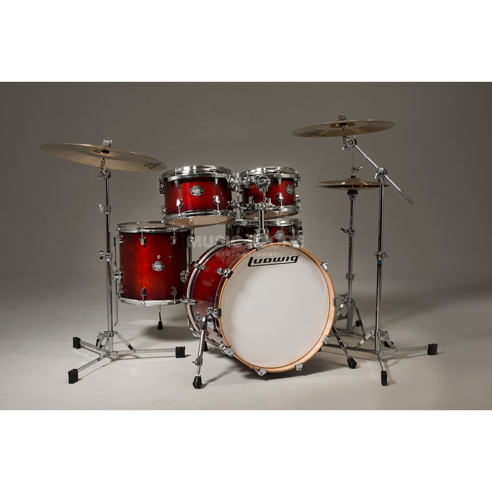 "Ludwig Element Birch ""Pop"" ShellSet, Deep Brownburst #MW Produktbillede"