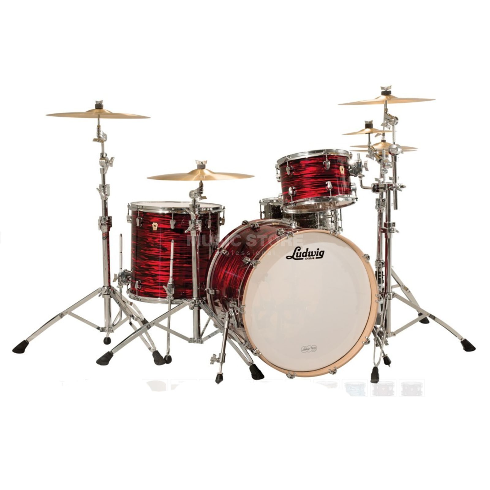 "Ludwig Keystone ""Power Beat"" ShellSet Red Oyster Produktbild"