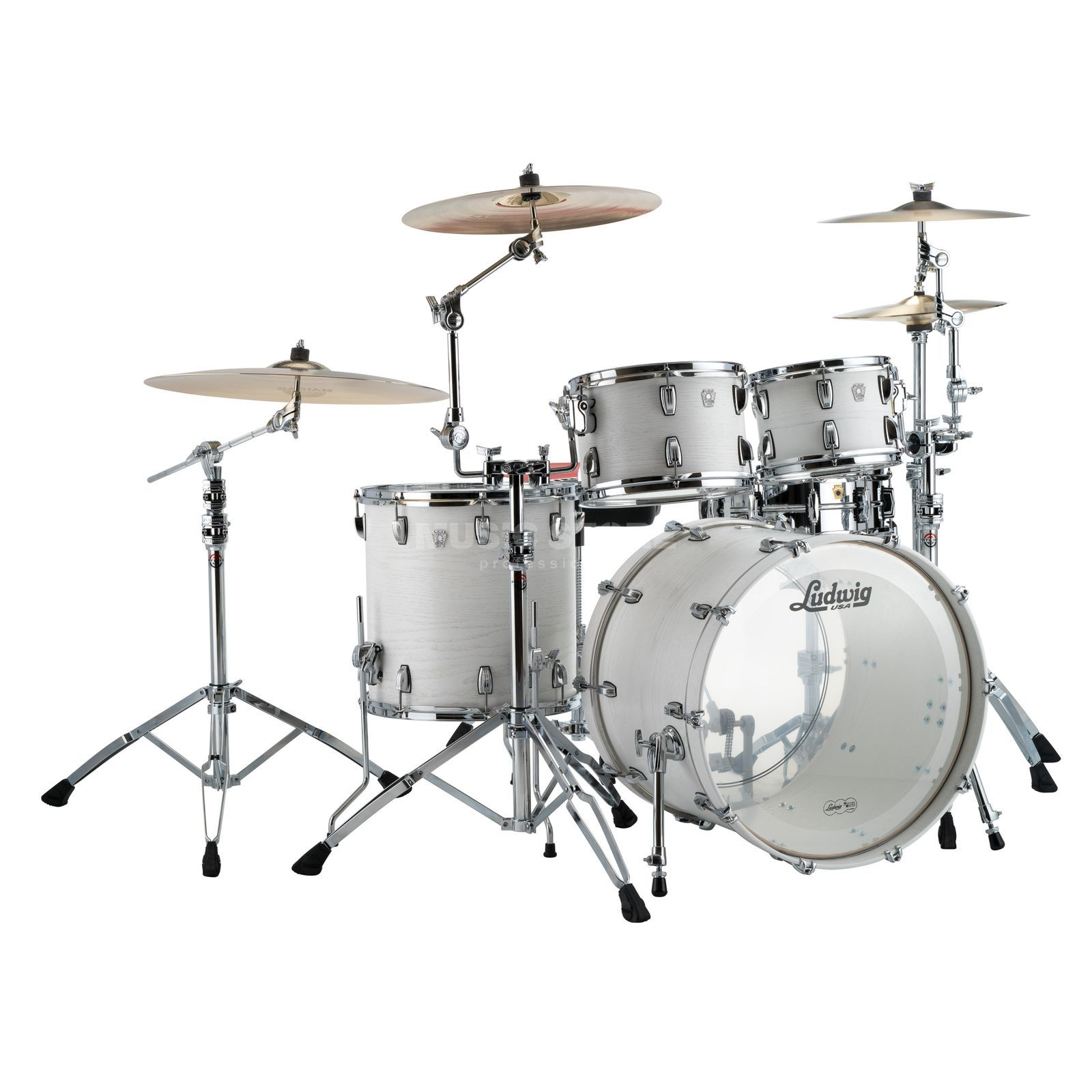 Ludwig Keystone X Big Beat L7024AXBW, Arctic Oak Product Image