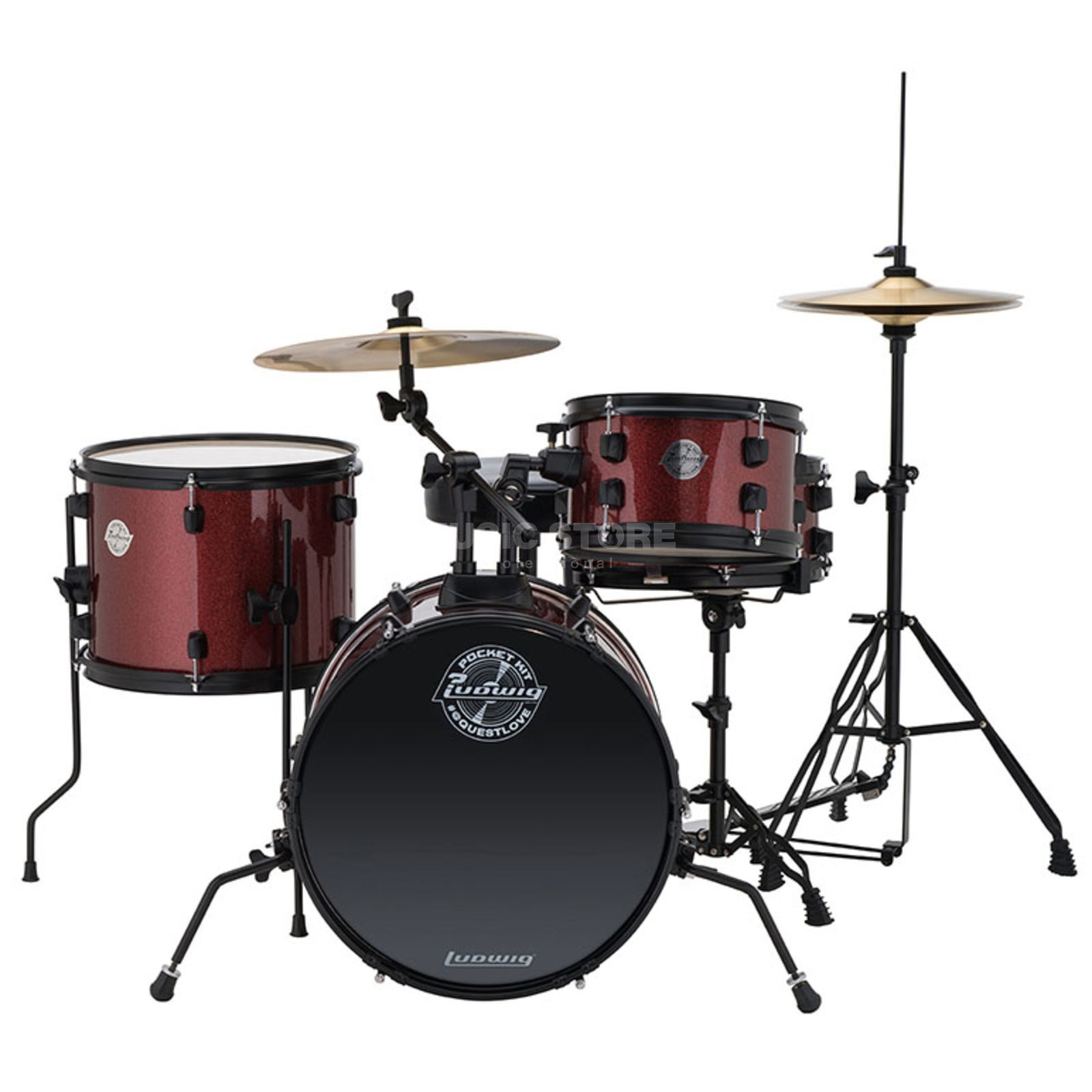 Ludwig Pocket Kit, Red Wine Sparkle Produktbillede