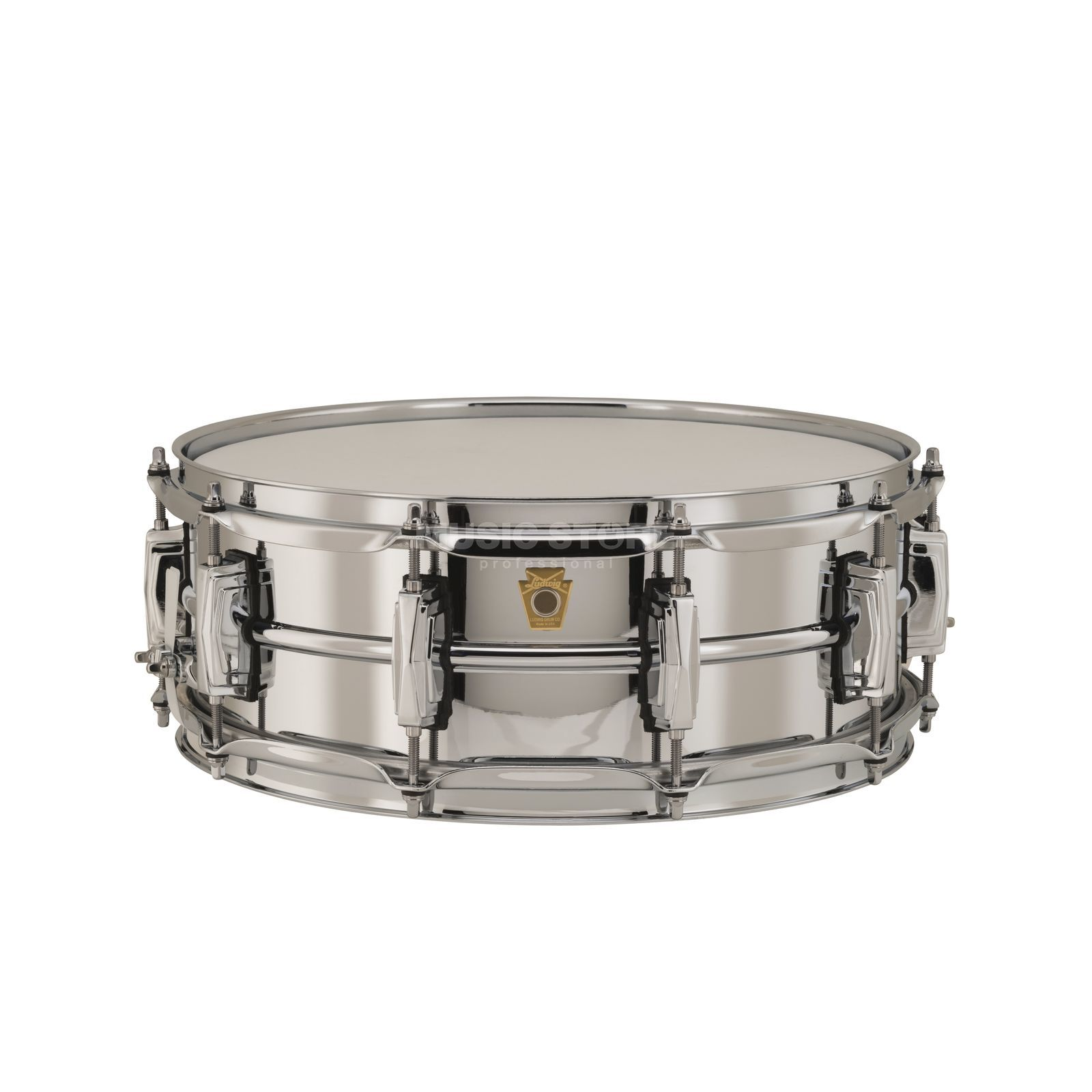 "Ludwig Supra Phonic Snare LB400B, 14""x5"", Chrome over Brass Produktbillede"