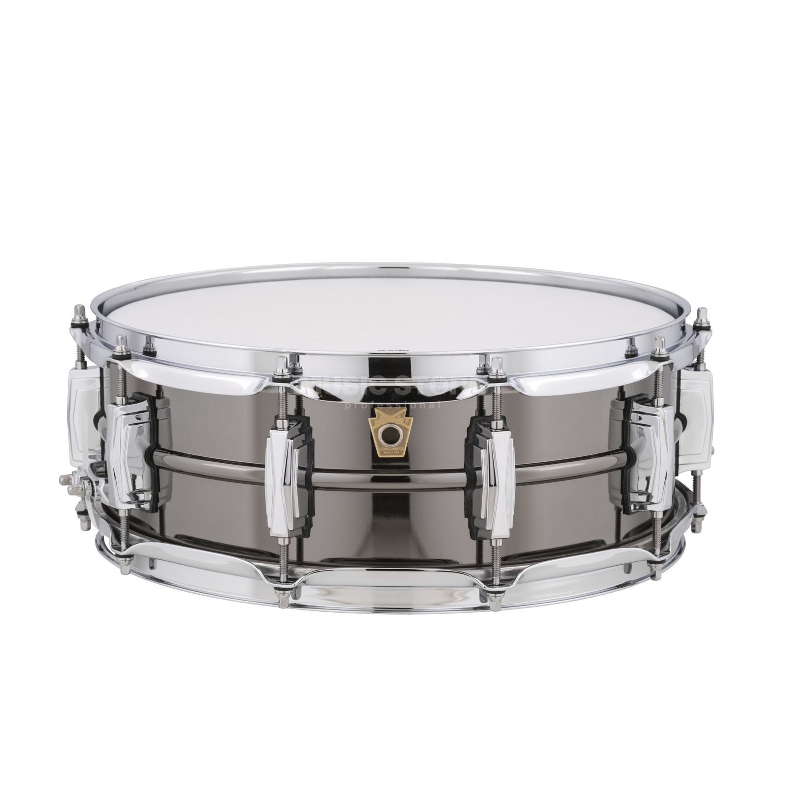 "Ludwig zwart Beauty Snare LB416, 14""x5"", Brass Productafbeelding"