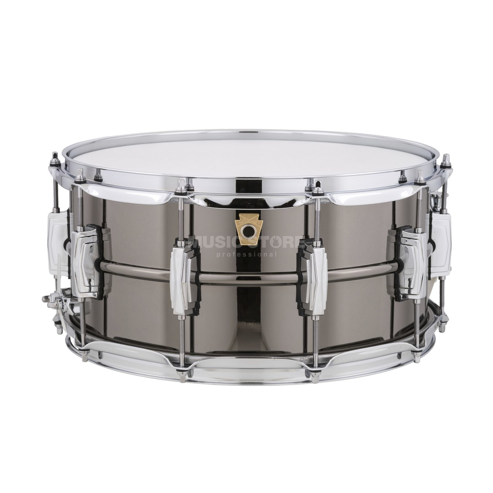 "Ludwig zwart Beauty Snare LB417, 14""x6,5"", Brass Productafbeelding"