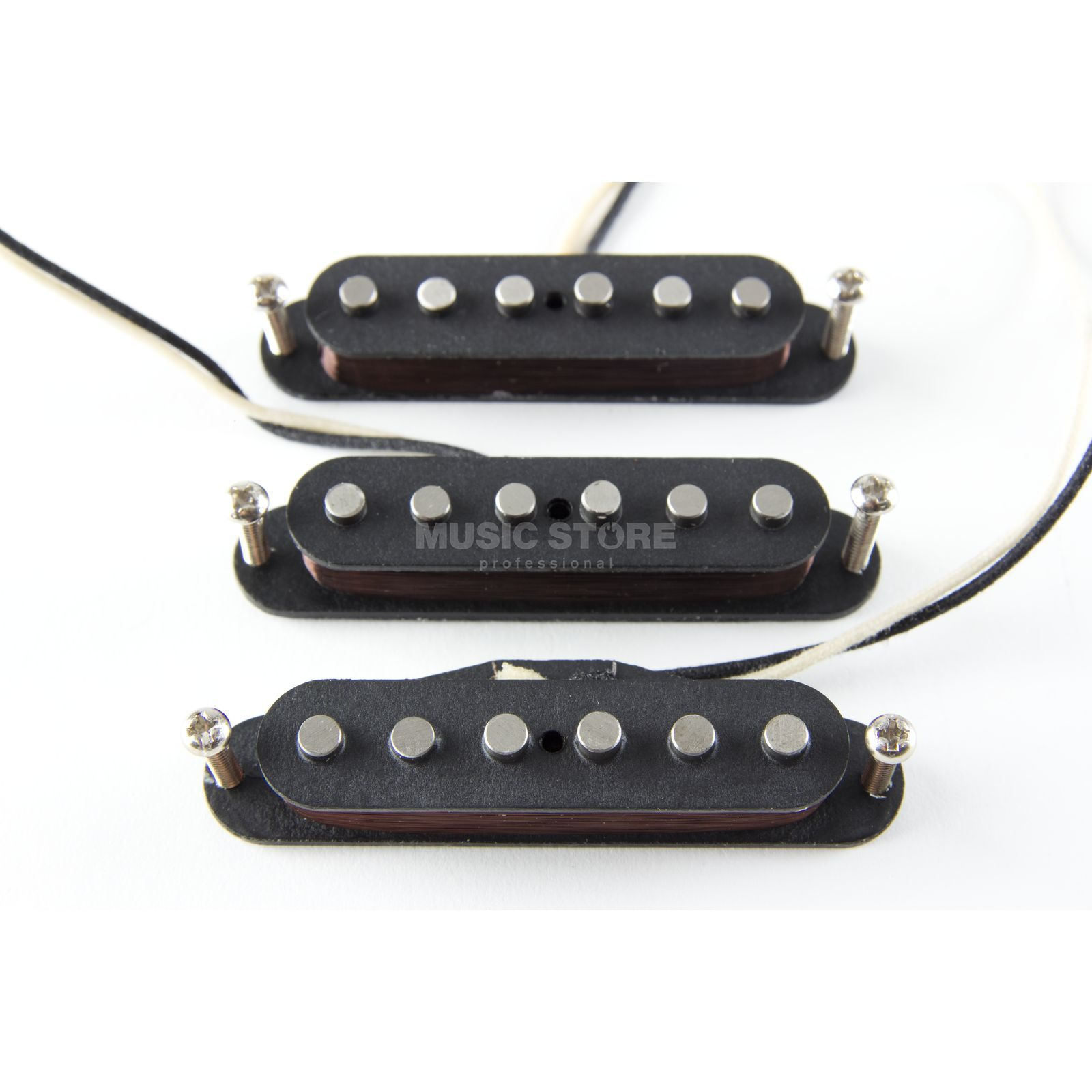 Lundgren Guitar Pickups 60s Vintage Singlecoil Set with Hot Bridge Singlecoil Produktbillede