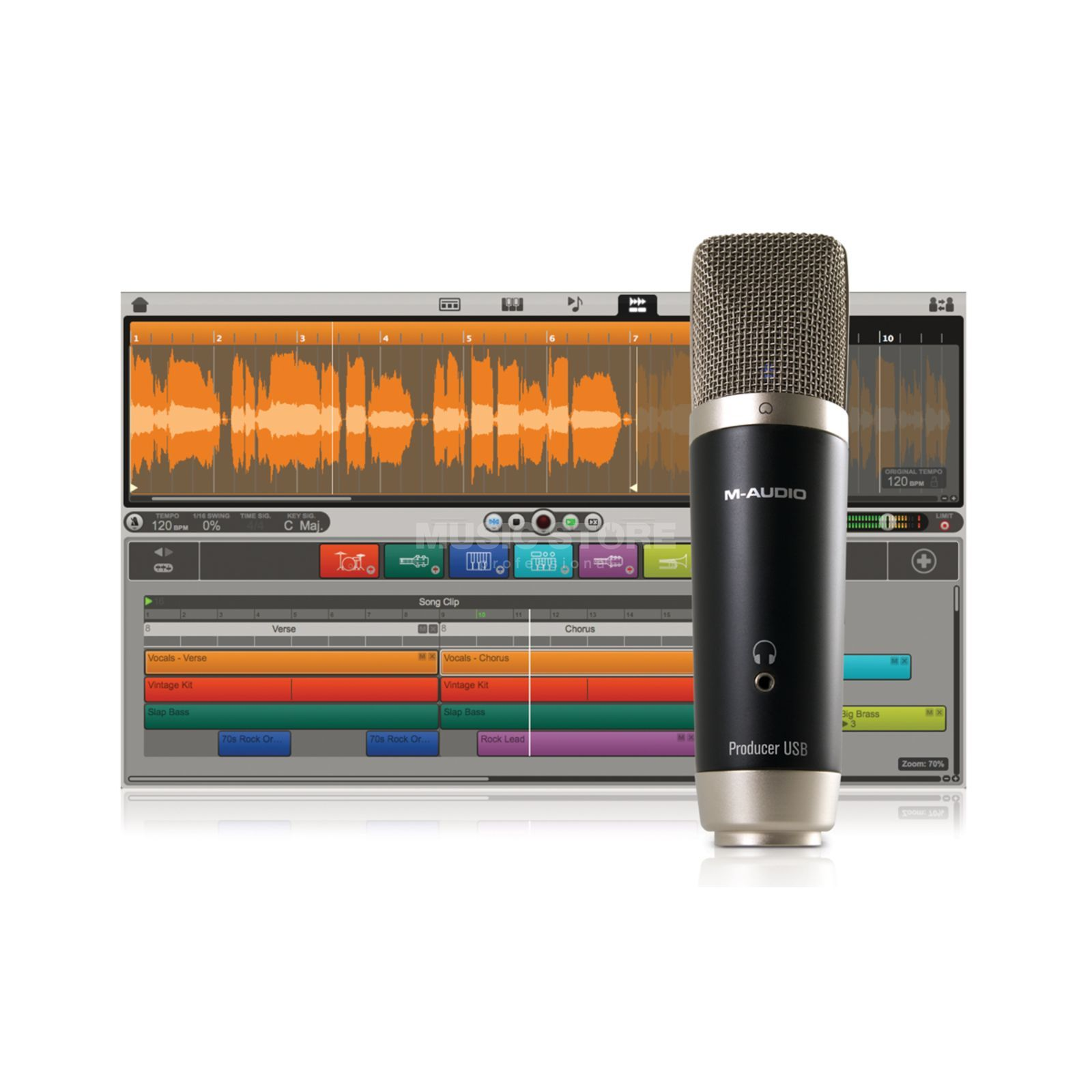M-Audio Vocal Studio USB Mikrofon+Ignite Software Produktbillede