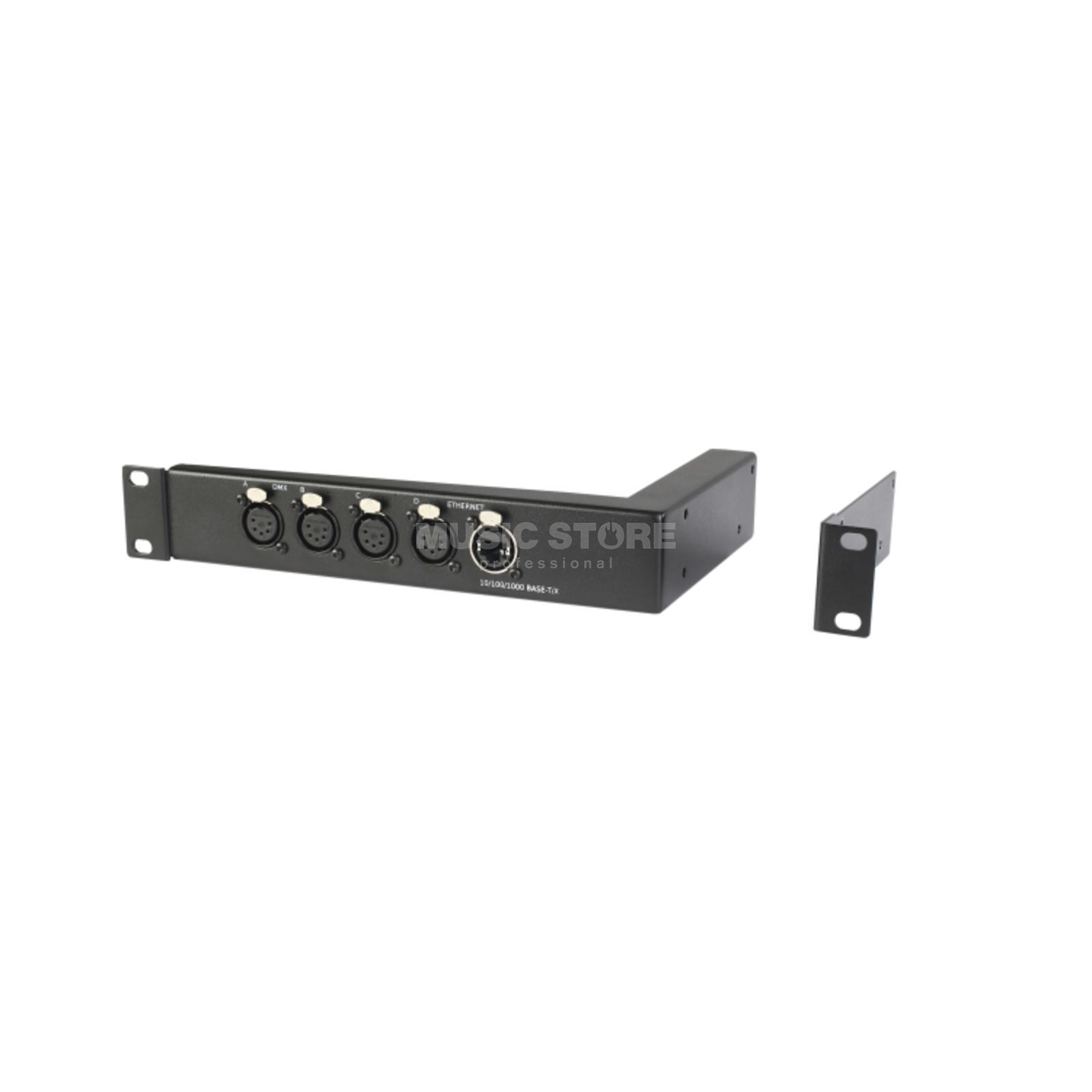 "MA Lighting 4Port Node 19"" Installation Kit XLR Rackmount, XLR/Ethernet Front Produktbillede"