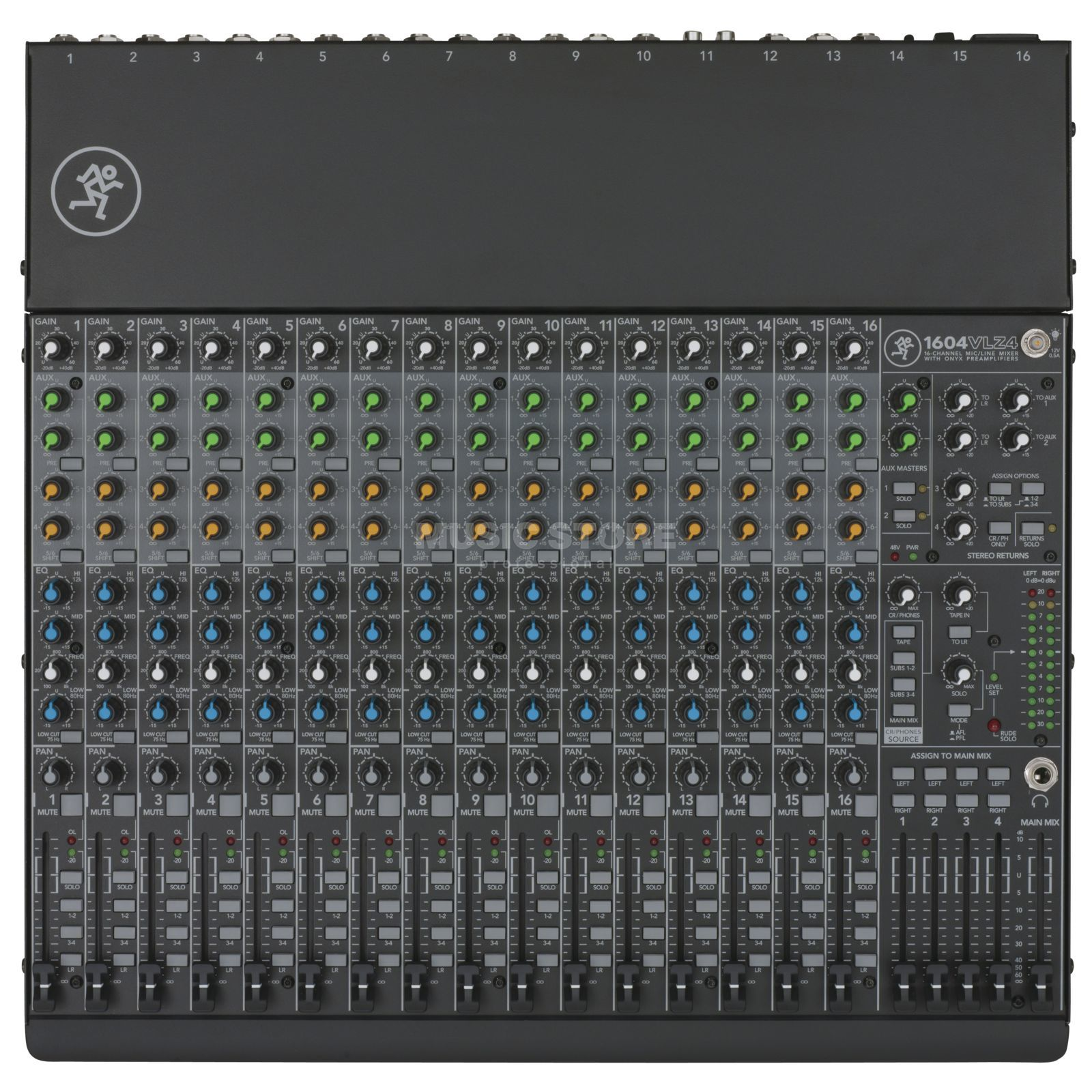 Mackie 1604VLZ4, 16 channel compact mixer, 4 busses Product Image