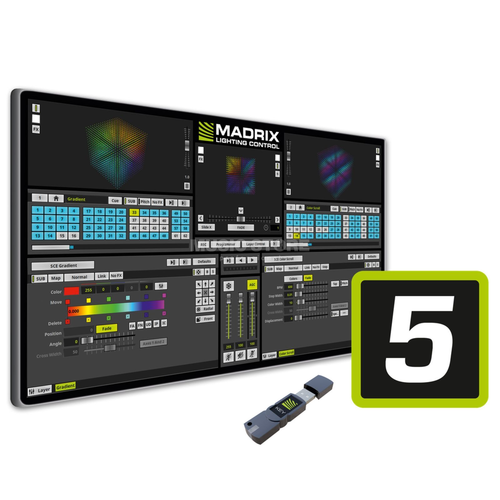 MADRIX basic Software for 16x 512 DMX channels Produktbillede