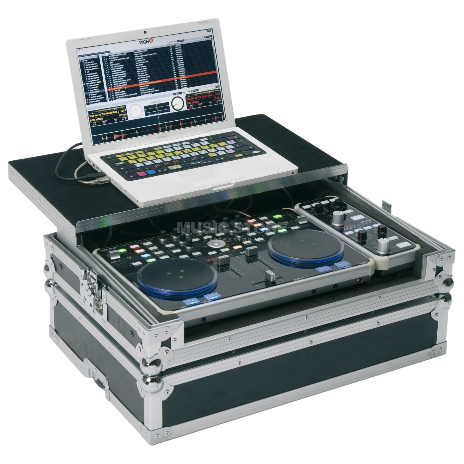 Magma DJ-Controller Workstation 300 Plus, for VCI300+VFX-1+Laptop Product Image