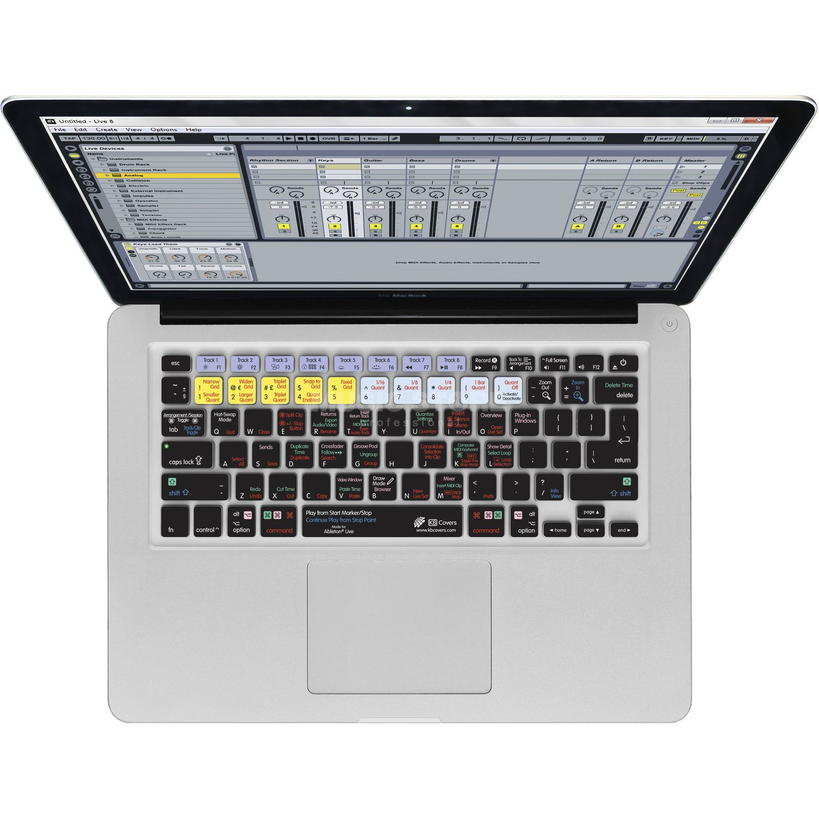 Magma Keyboard Cover Ableton Live 9 für MacBook & MacBook Air Produktbild