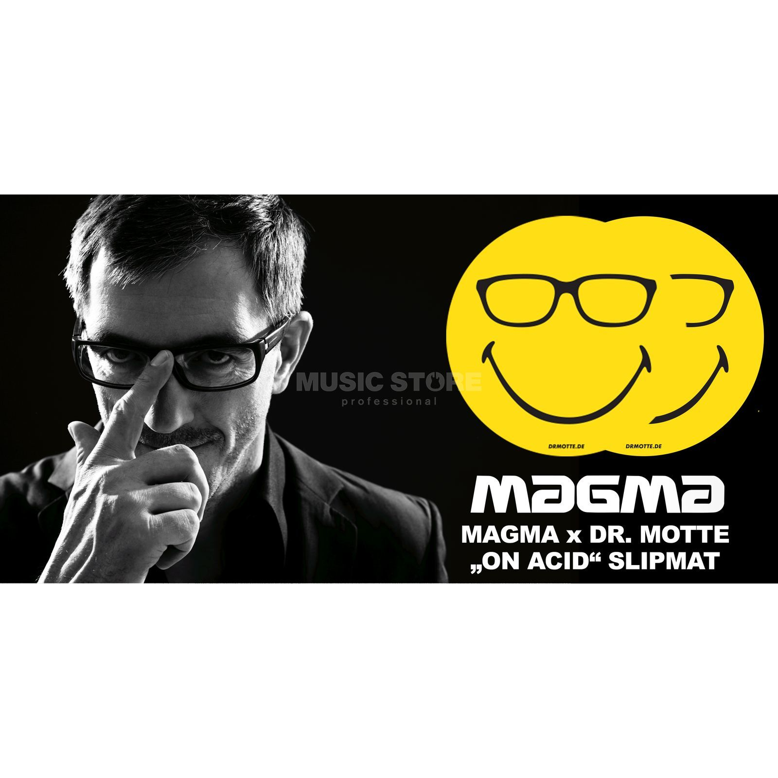 "Magma Slipmats ""Dr. Motte on Acid"" yellow/black Immagine prodotto"