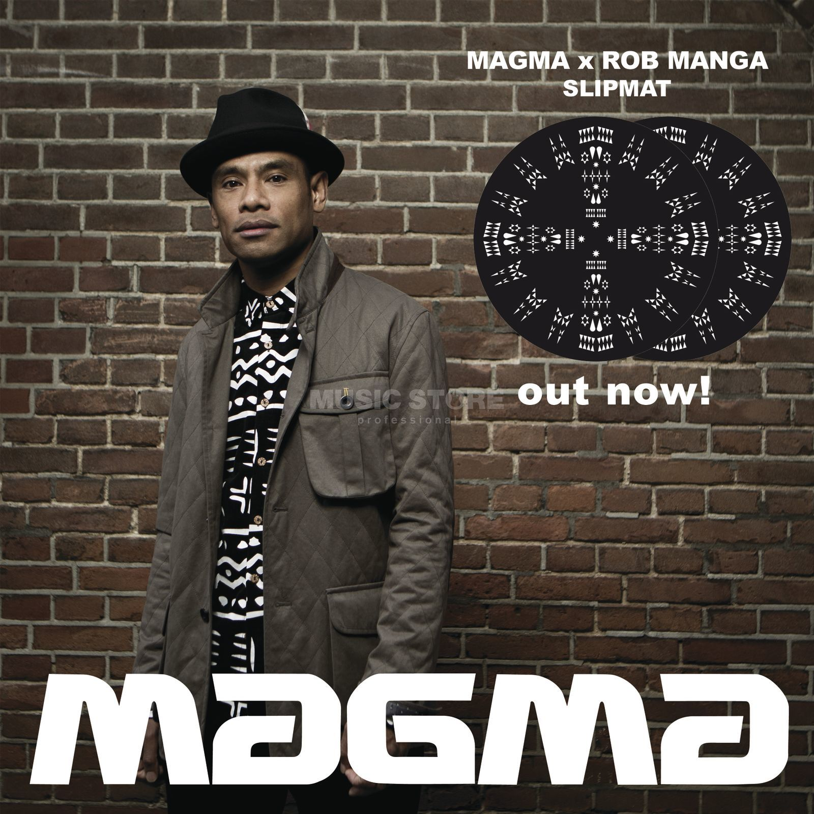 "Magma Slipmats ""Rob Manga"" black/white Product Image"