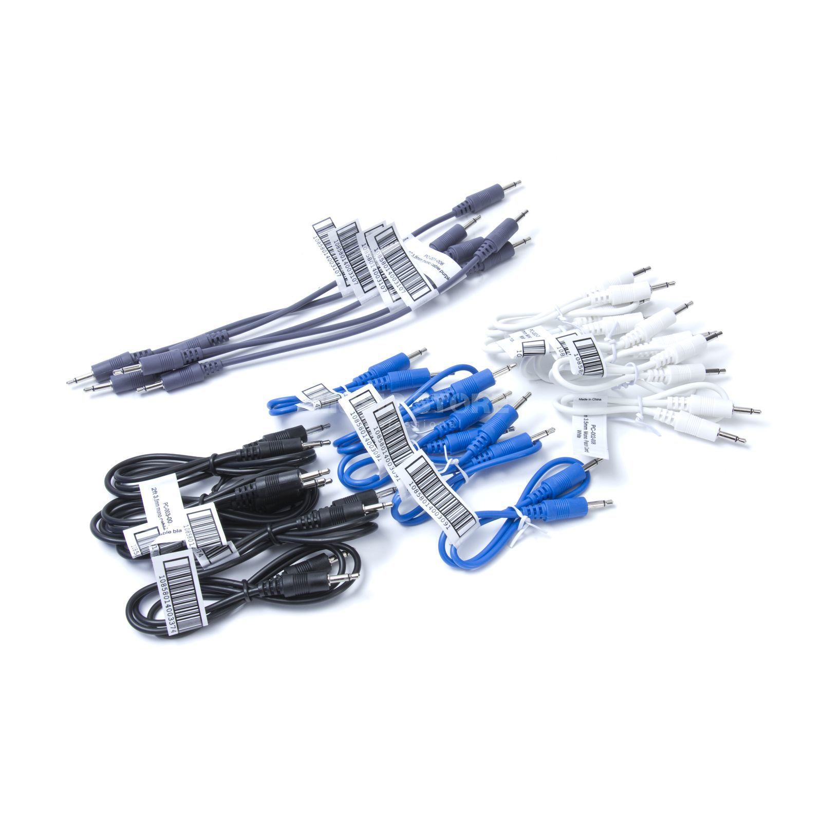 Make Noise 20 Patchkabel Pack grau, weiss,schwarz, blau Product Image