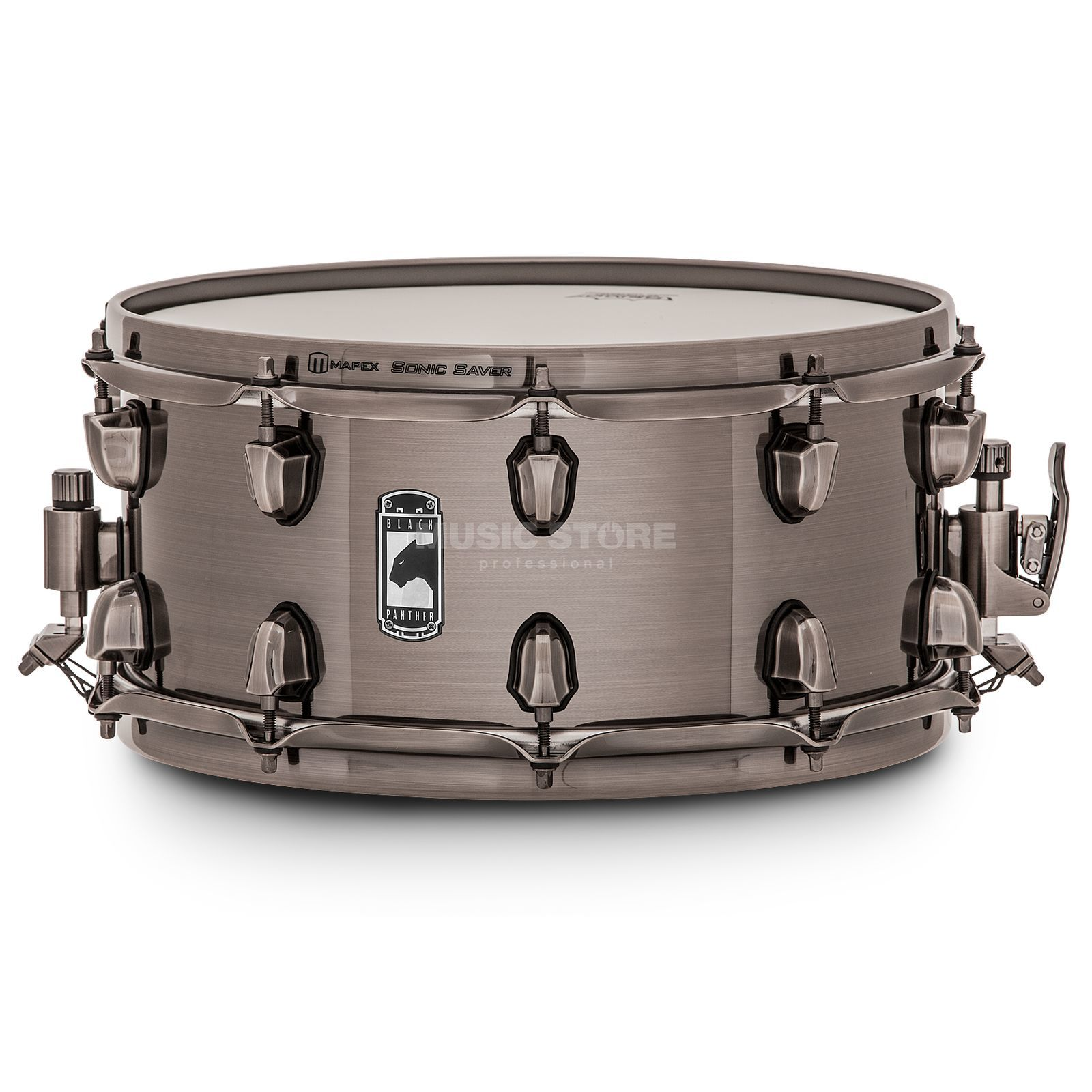 "Mapex zwart Panther Snare 14""x6,5"", ""The Machete"" Productafbeelding"