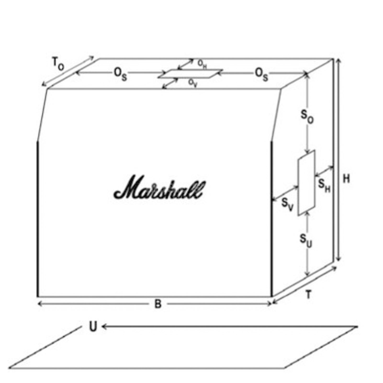 "Marshall Cover 2x12"" Combos  Produktbillede"