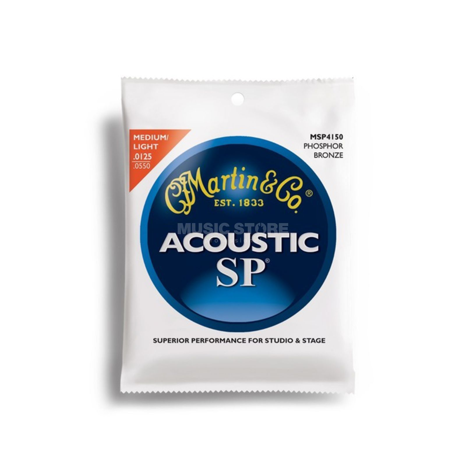 Martin Guitars A-Guit.Strings 125-55 MSP4150 Phosphor Bronze Produktbillede