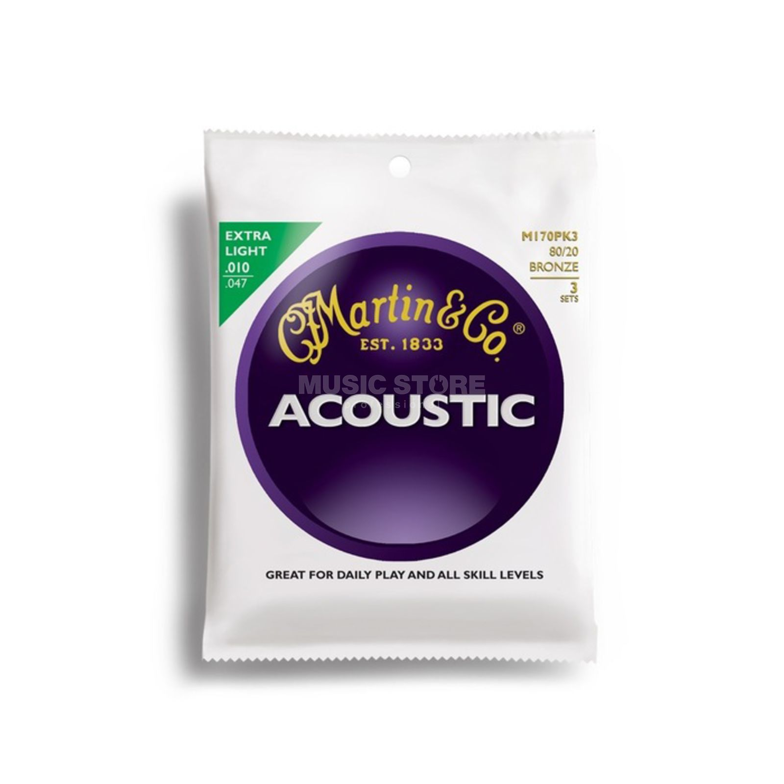 Martin Guitars A-Guitar Strings 10-47 M170 Bronze 3-Pack Product Image