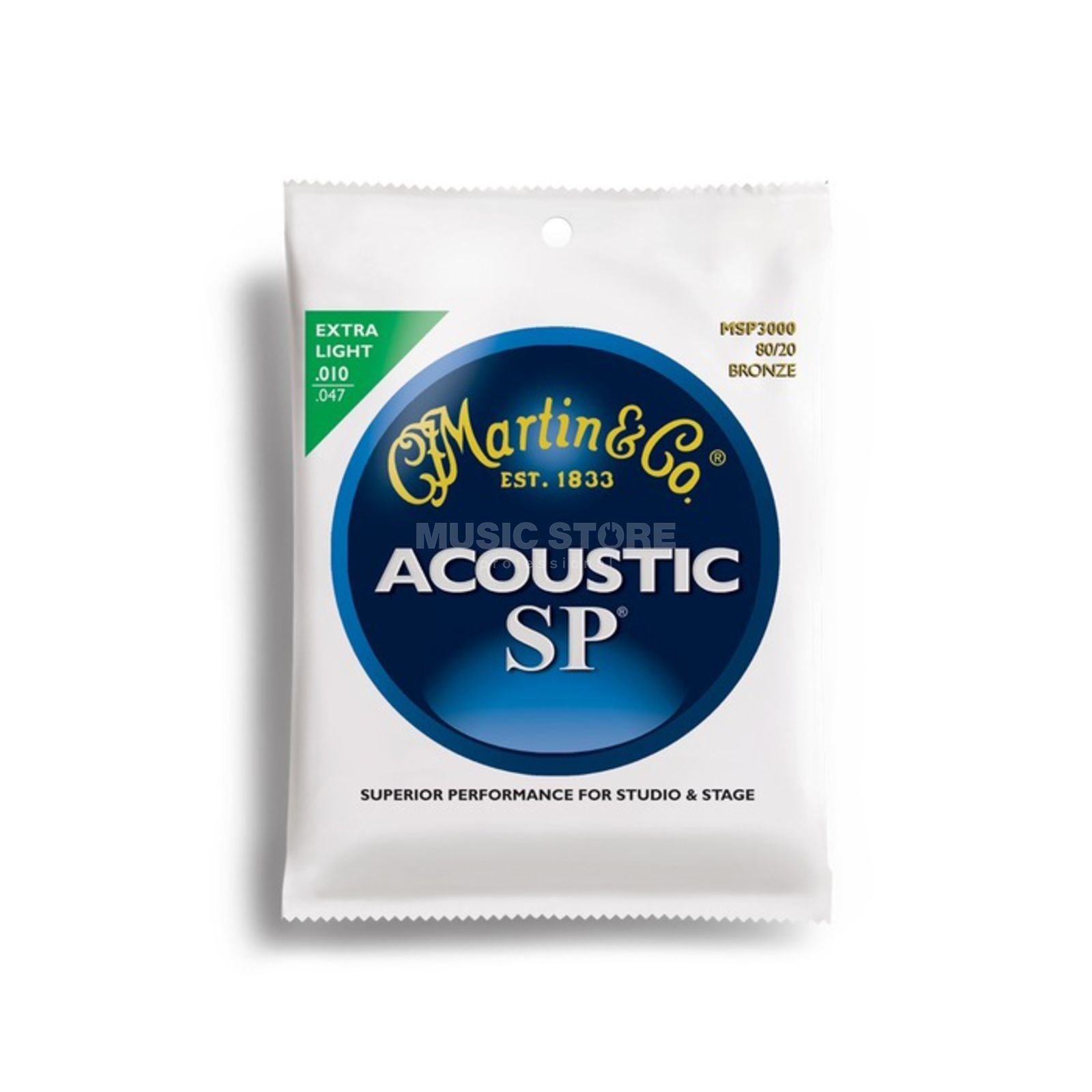 Martin Guitars Cordes guitare acoustique, 10-47,SP,MSP3000 Extra Light Image du produit