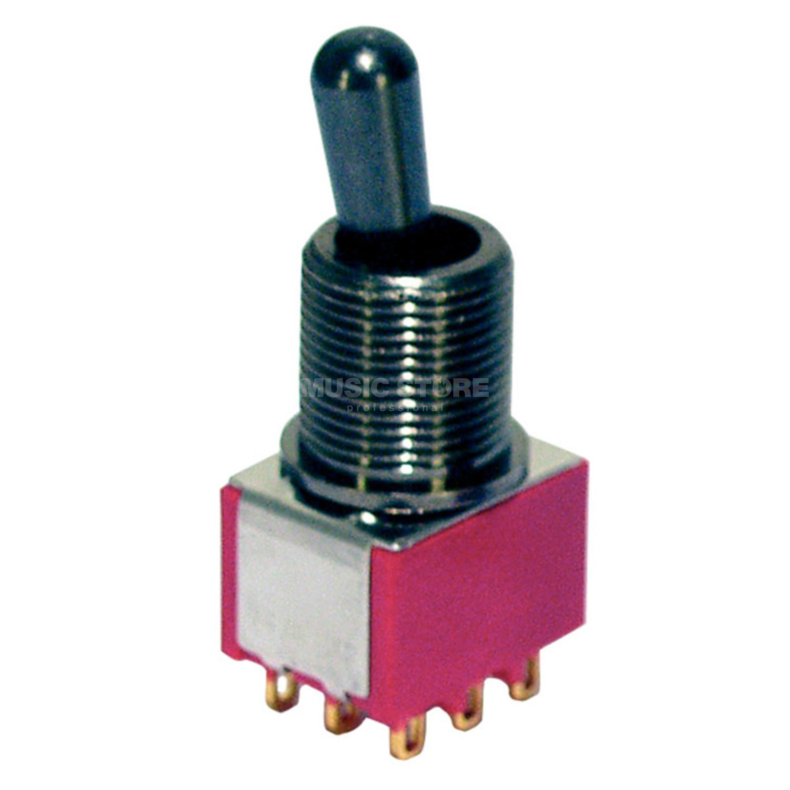 MEC Maxi Toggle Switch black on-on 3PDT Product Image