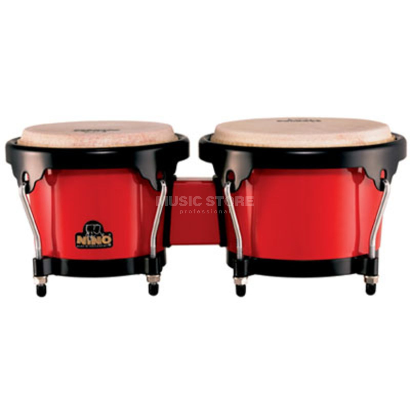 "Meinl ABS Bongo Plus NINO17R-BK, 6,5""+7,5"", Red, Black HW Produktbild"