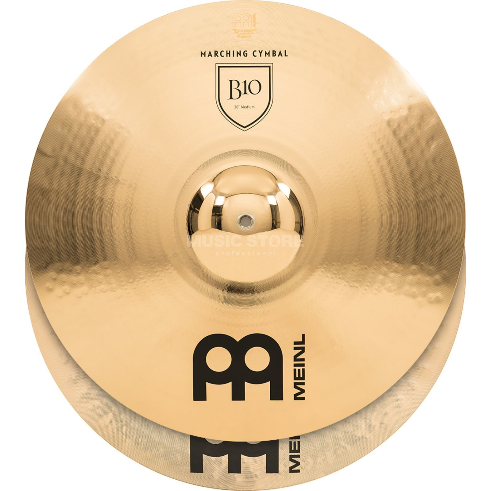 "Meinl B10 Marching Cymbals 20"", Medium, MA-B10-20M Produktbillede"