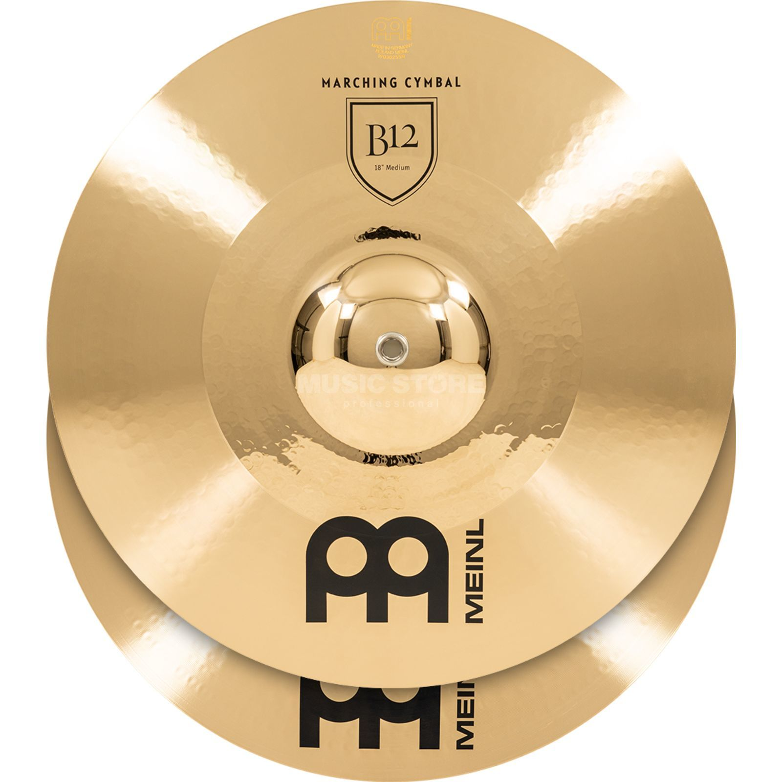 "Meinl B12 Marching Cymbals 18"", Medium, MA-B12-18M Productafbeelding"