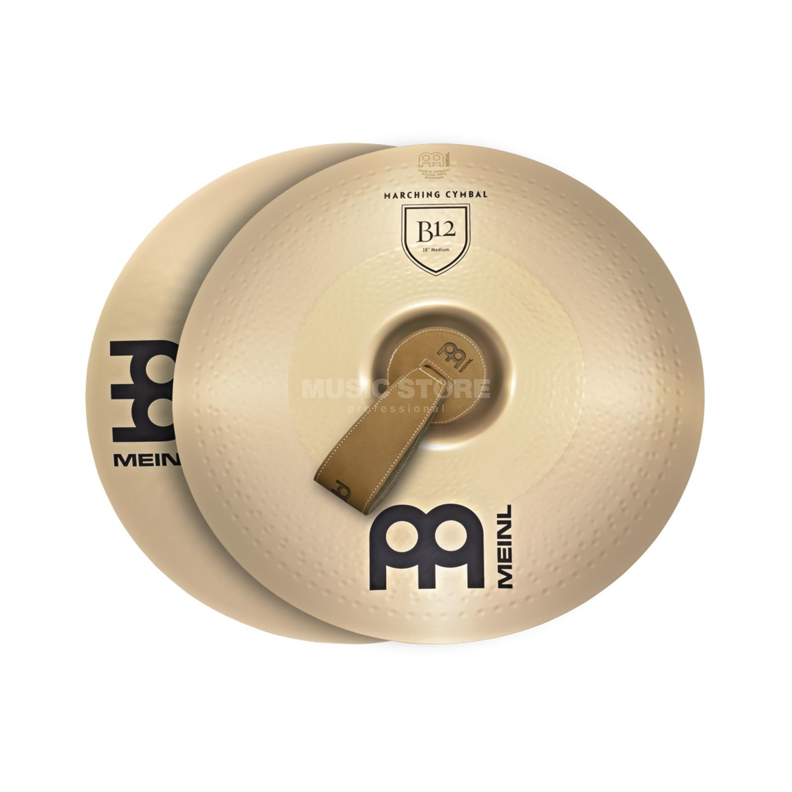"Meinl B12 Marching Cymbals 20"", Medium, MA-B12-20M Produktbillede"