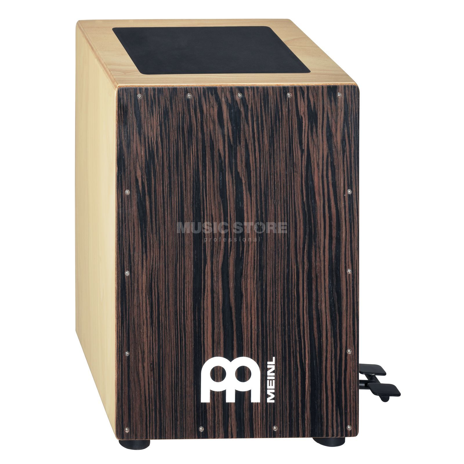 Meinl Bass Pedal Cajon CAJ5EB-M Frontplate: Ebony, Overstock Product Image