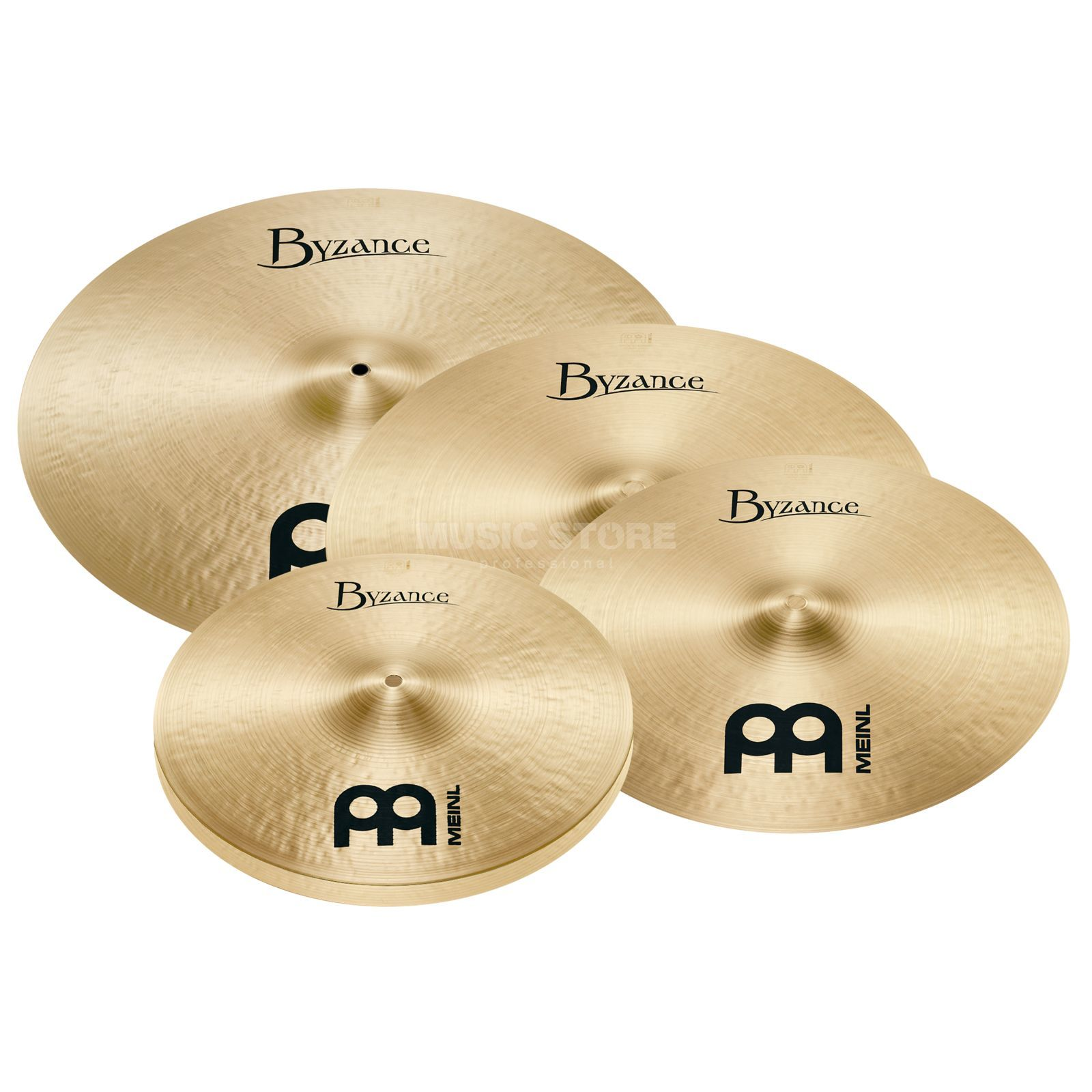 "Meinl Byzance Cymbal Set MS-Edition 20""R,16""Cr,14""HH+18""Cr Produktbillede"