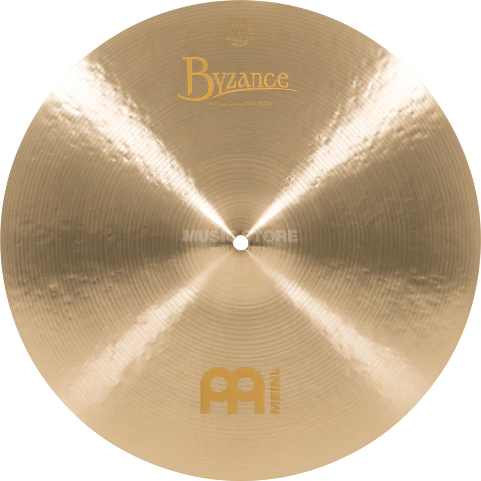 "Meinl Byzance Extra Thin Crash 16"" B16JETC, Jazz Finish Productafbeelding"