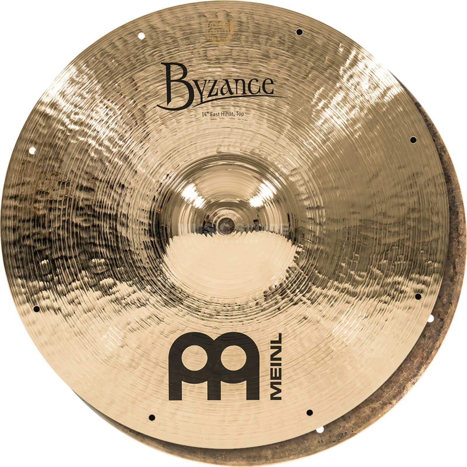 "Meinl Byzance Fast HiHat 14"" B14FH, Dark/Brilliant Finish Productafbeelding"